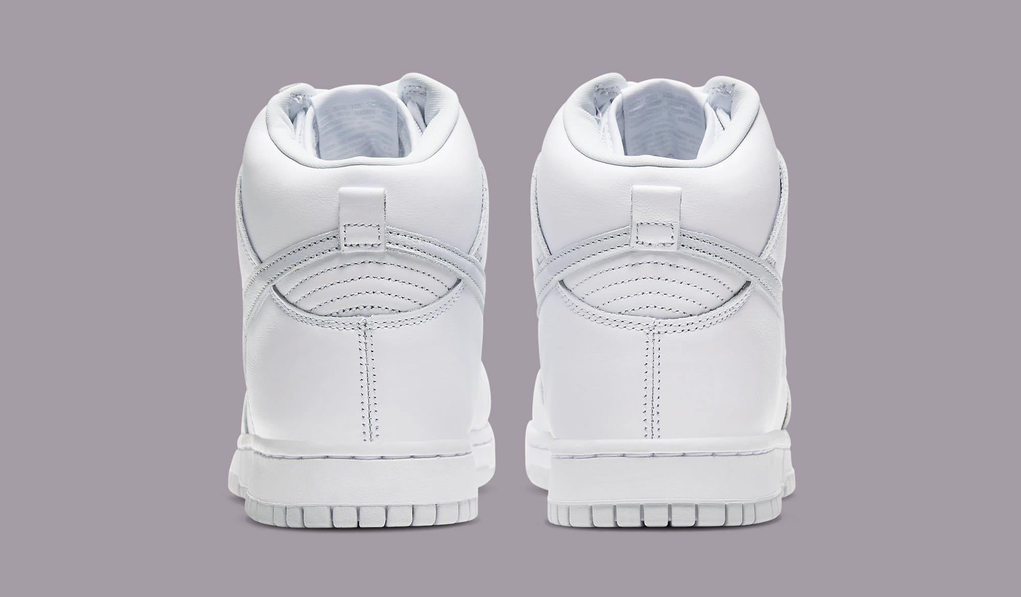 Nike Dunk High 'Pure Platinum' CZ8149-101 Heel