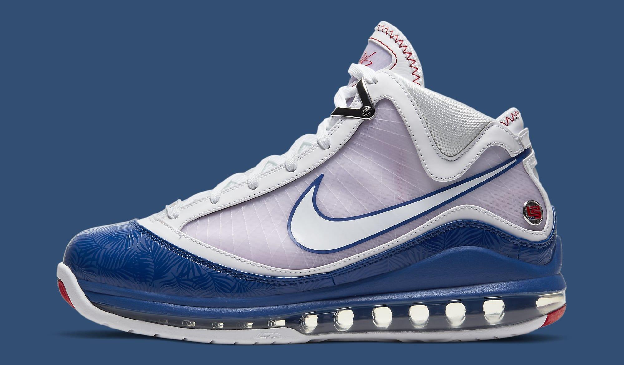 Nike LeBron 7 'Dodgers' DJ5158-100 Lateral