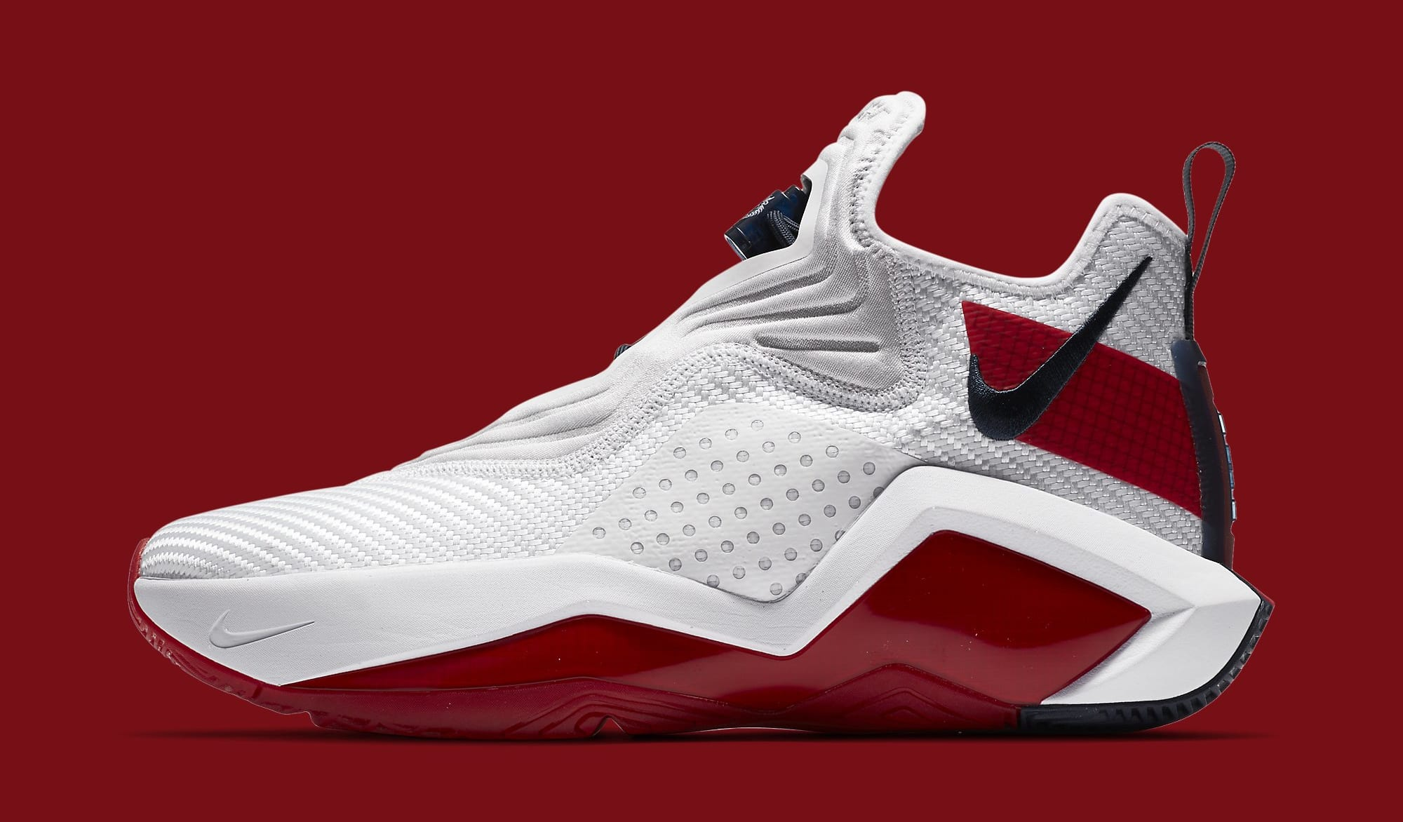 Nike LeBron Soldier 14 White/University Red-Team Red CK6024-100 Lateral