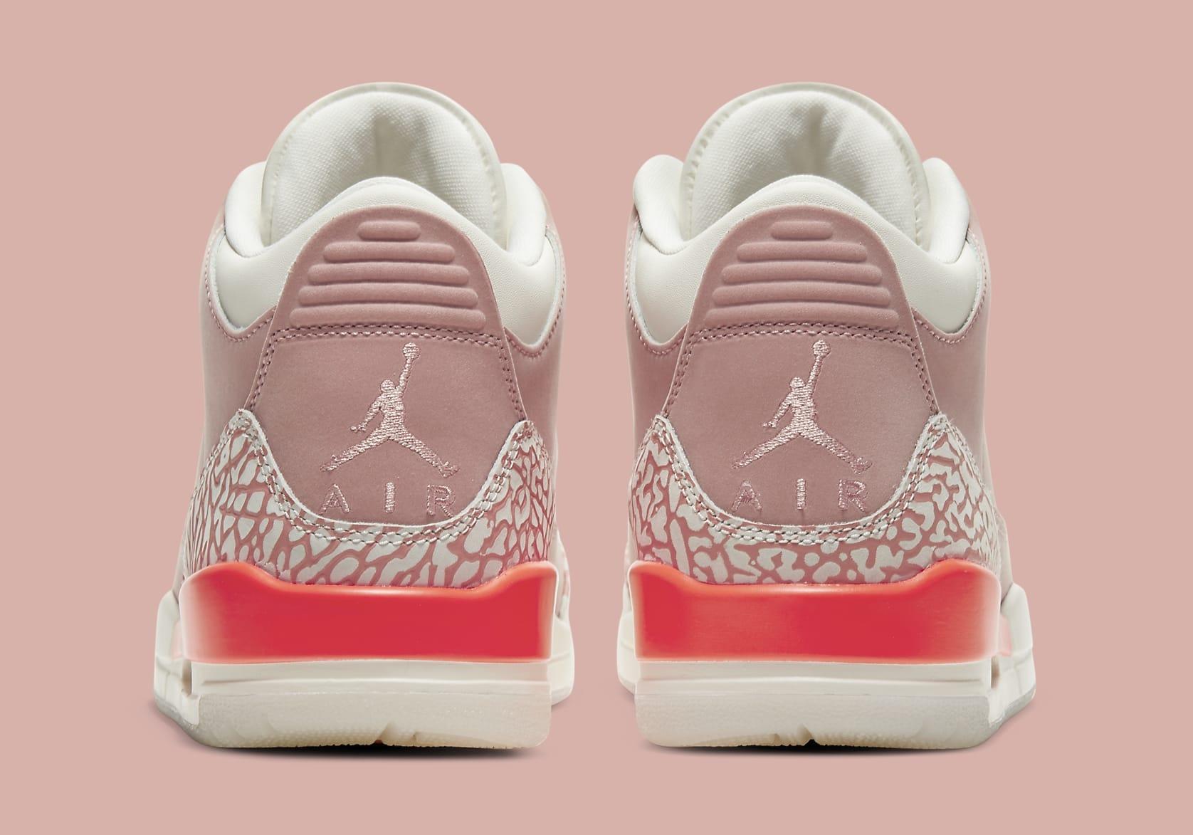 Air Jordan 3 Retro Women's 'Rust Pink' CK9246-600 Heel