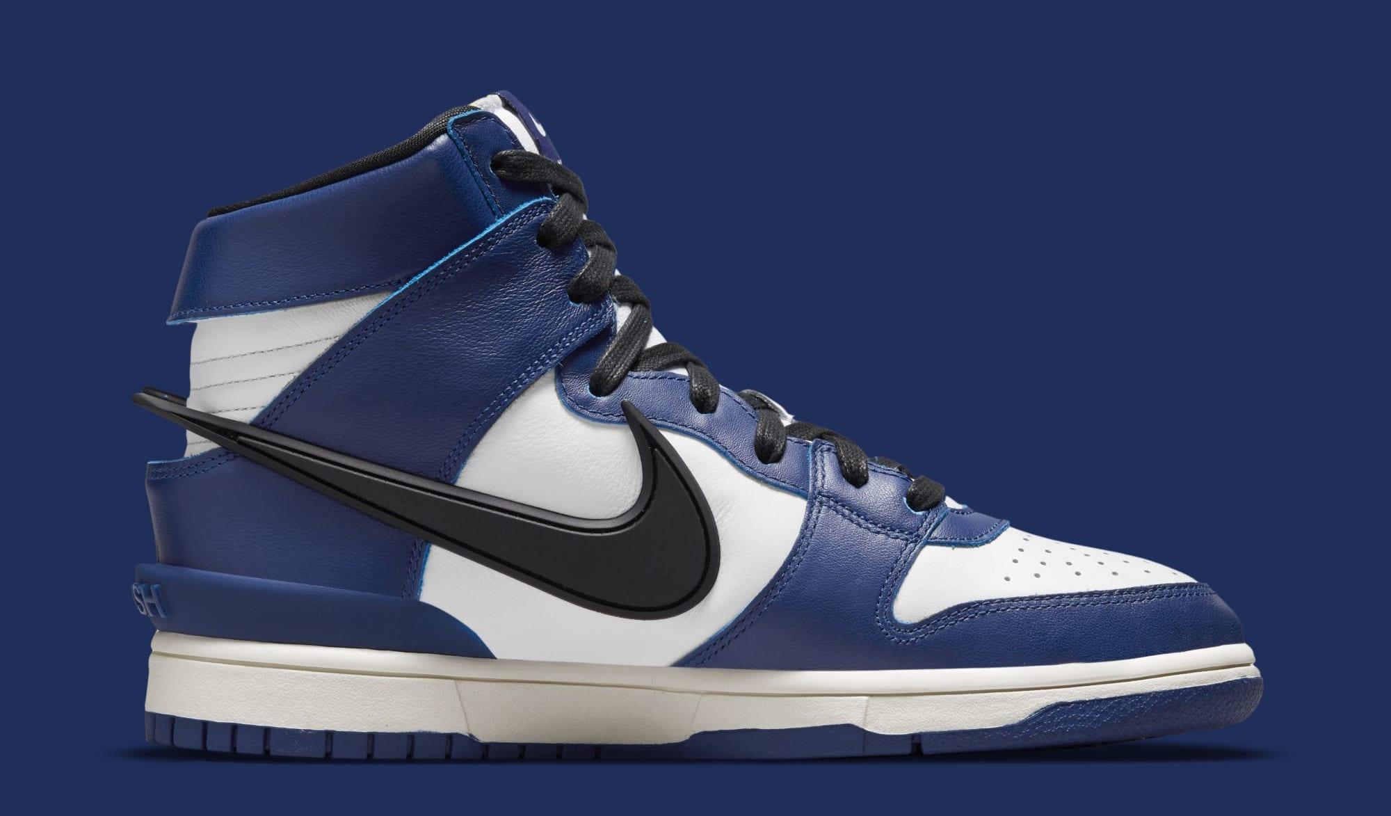 Ambush x Nike Dunk High 'Deep Royal Blue' CU7544-400 (Medial)