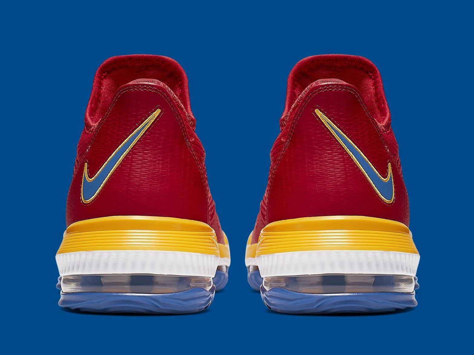 Nike LeBron 16 Low SuperBron Release Date CK2168-600 Heel