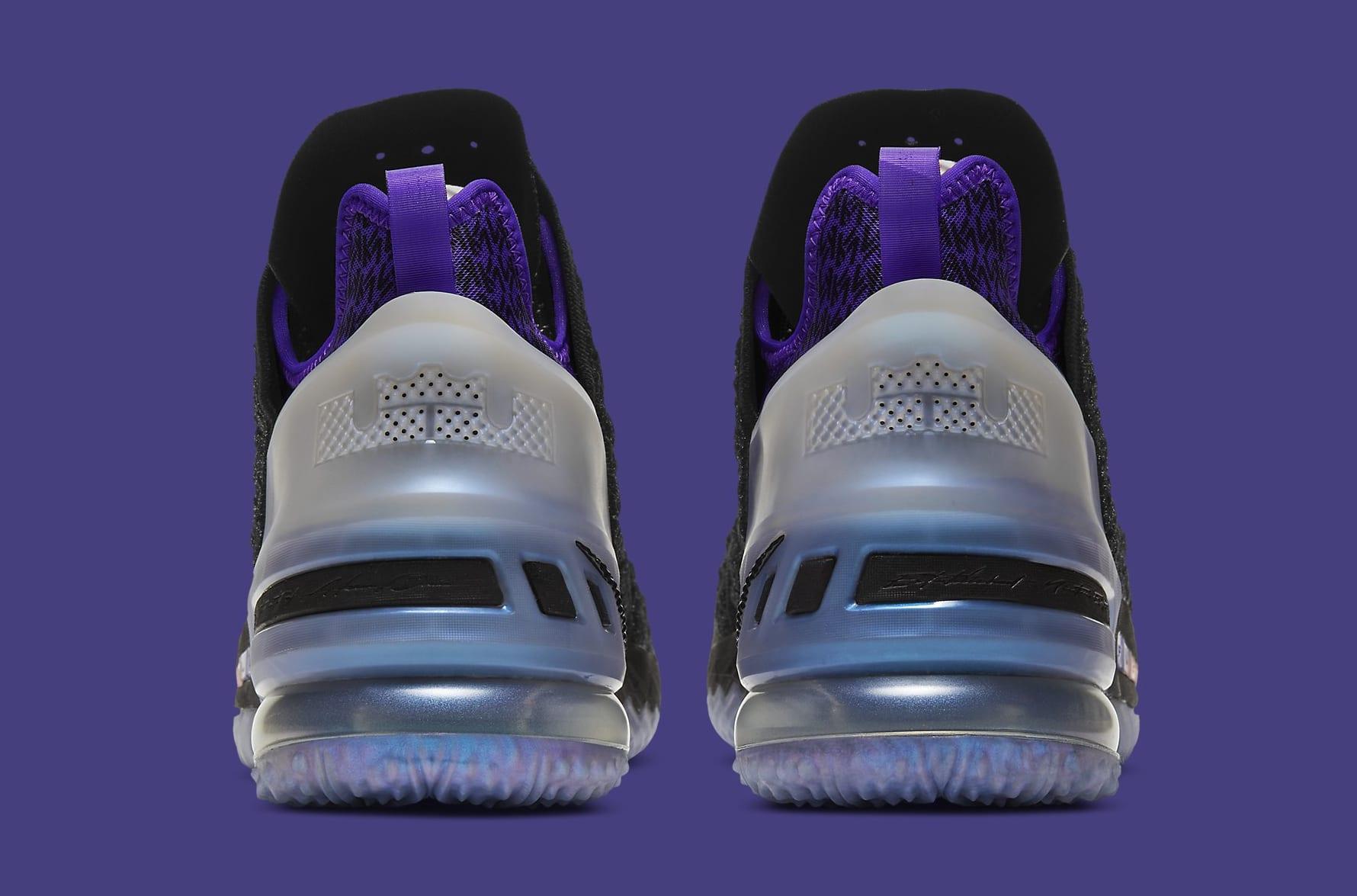 Kylian Mbappe x Nike LeBron 18 GS DB7644-001 Heel