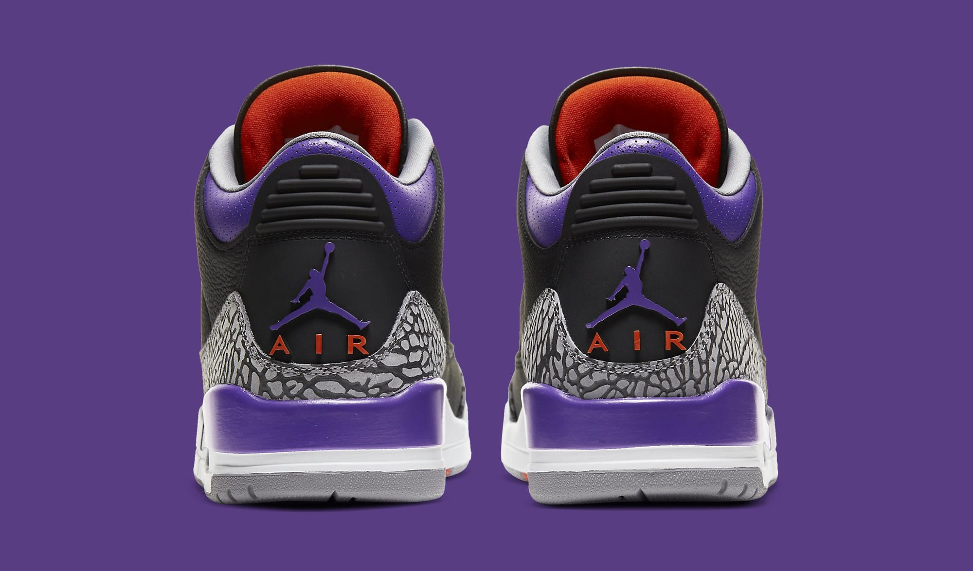 Air Jordan 3 Retro 'Court Purple' CT8532-050 Heel