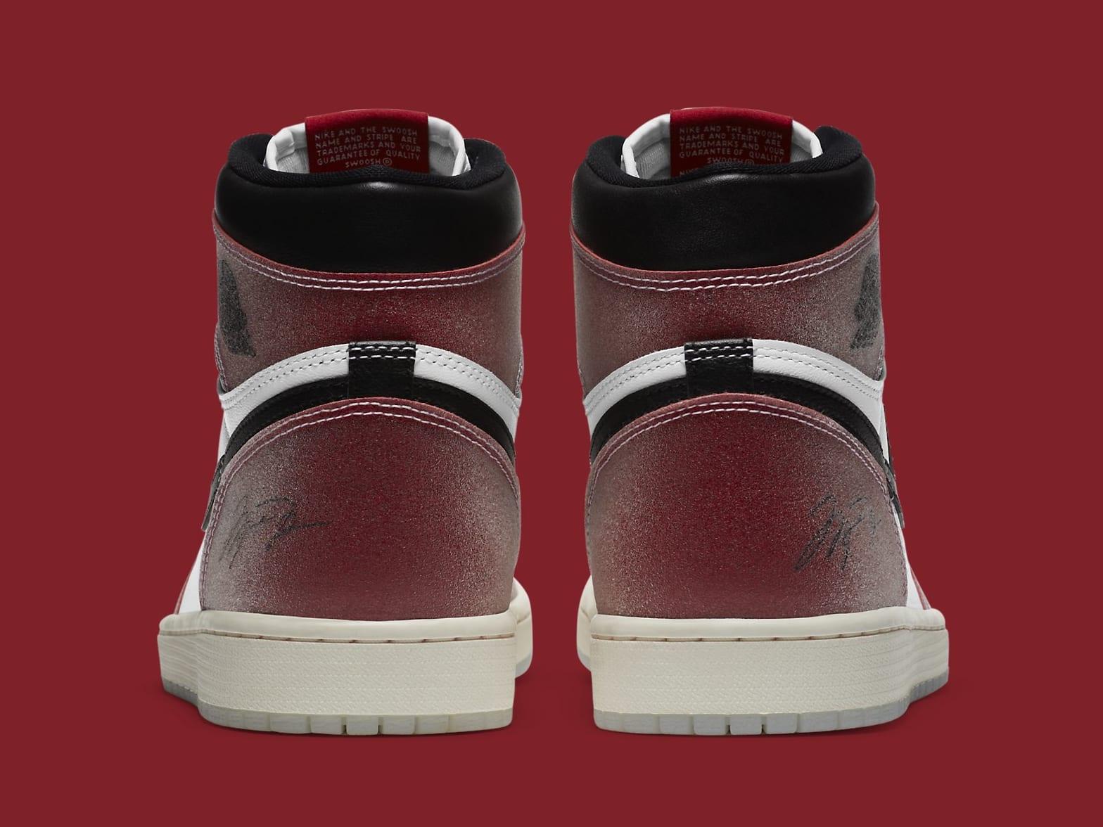 Trophy Room x Air Jordan 1 Release Date DA2728-100 Heel