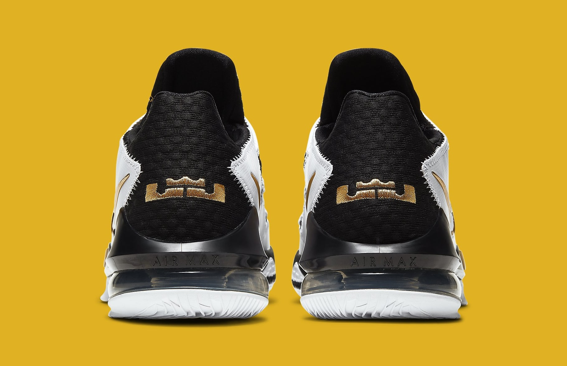 Nike LeBron 17 Low 'Metallic Gold' CD5007-101 Heel