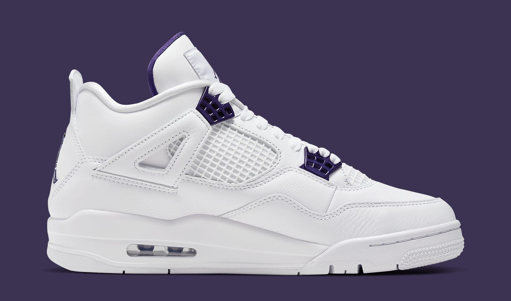 air jordan 4 retro gs violet homme