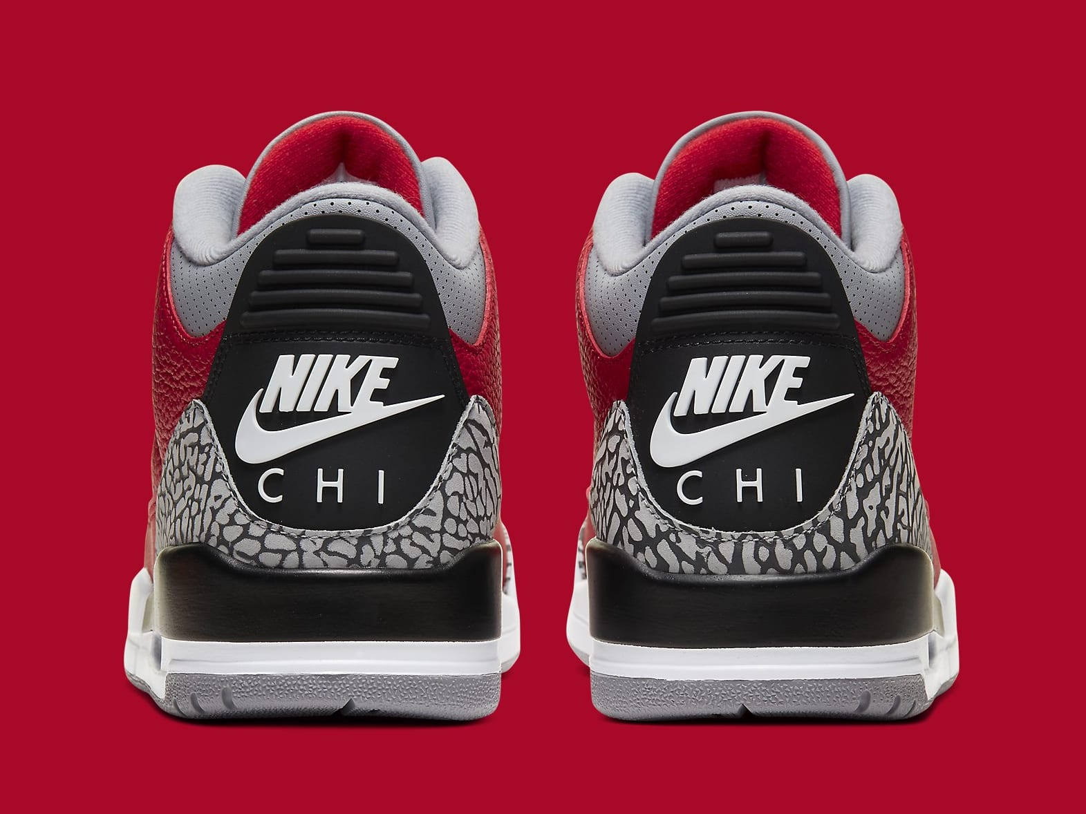 Air Jordan 3 CHI Exclusive Release Date CU2277-600 Heel