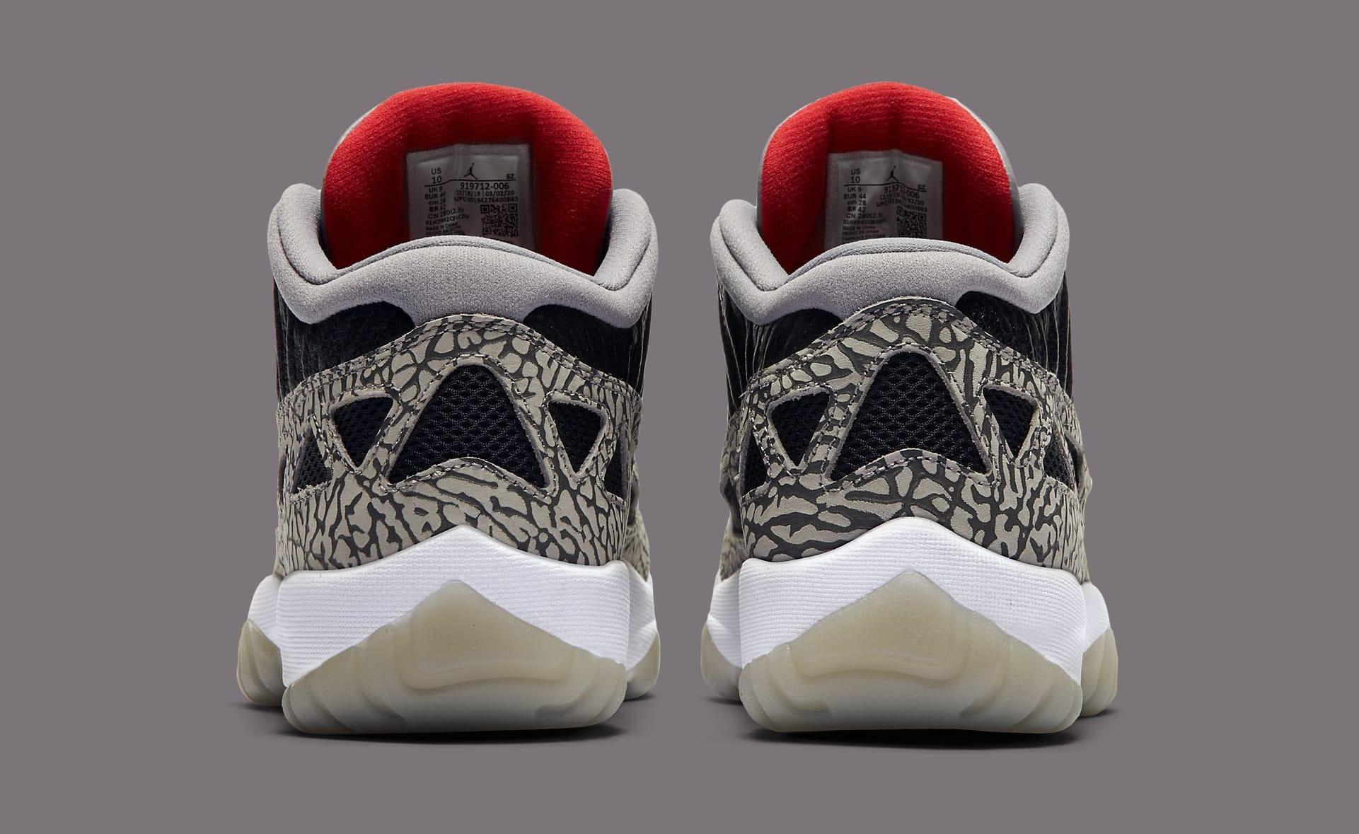 Air Jordan 11 Low Ie Black Cement Unveiled Release Info