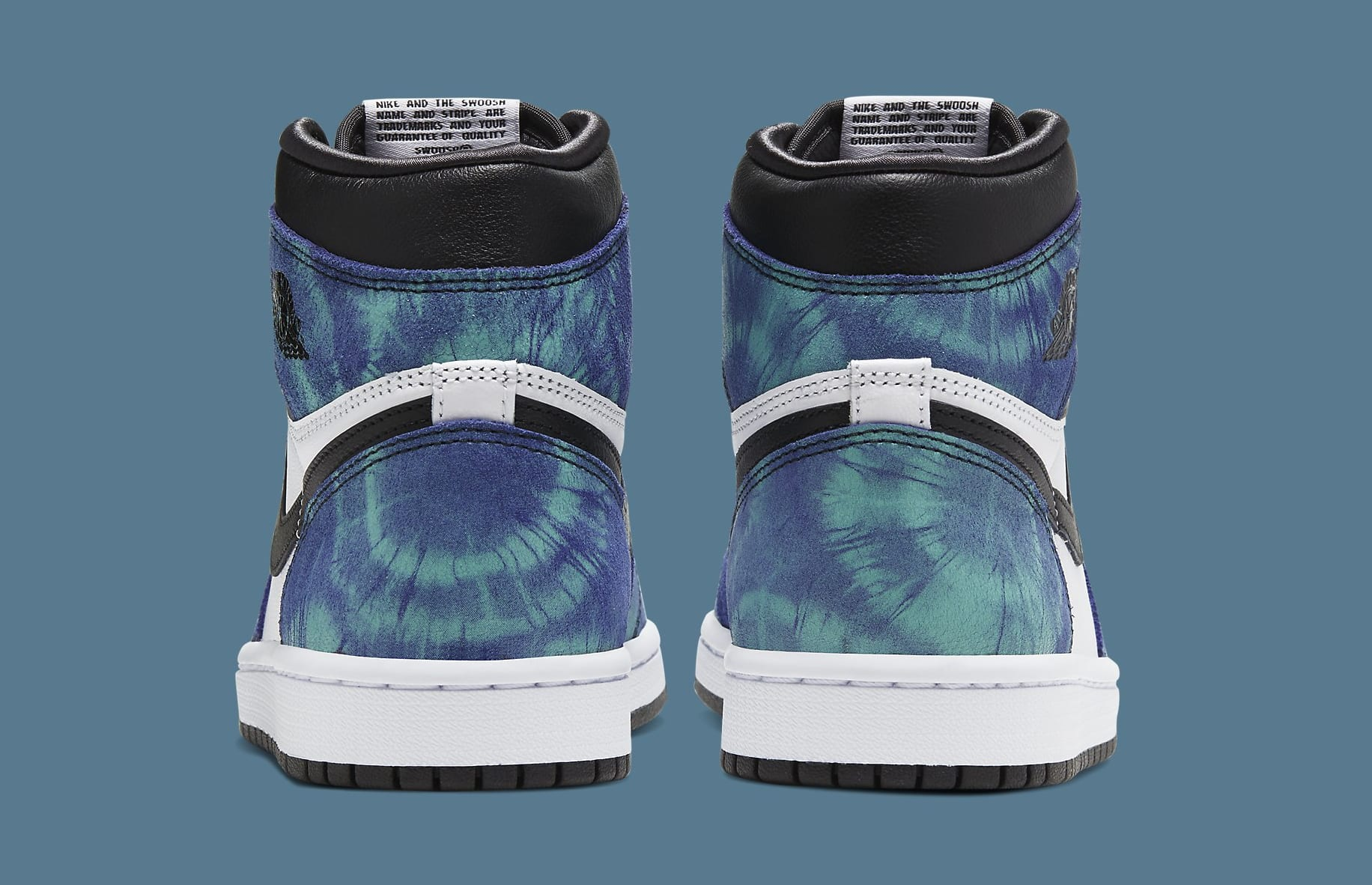 Air Jordan 1 Retro High OG Women's Tie-Dye CD0461-100 Heel