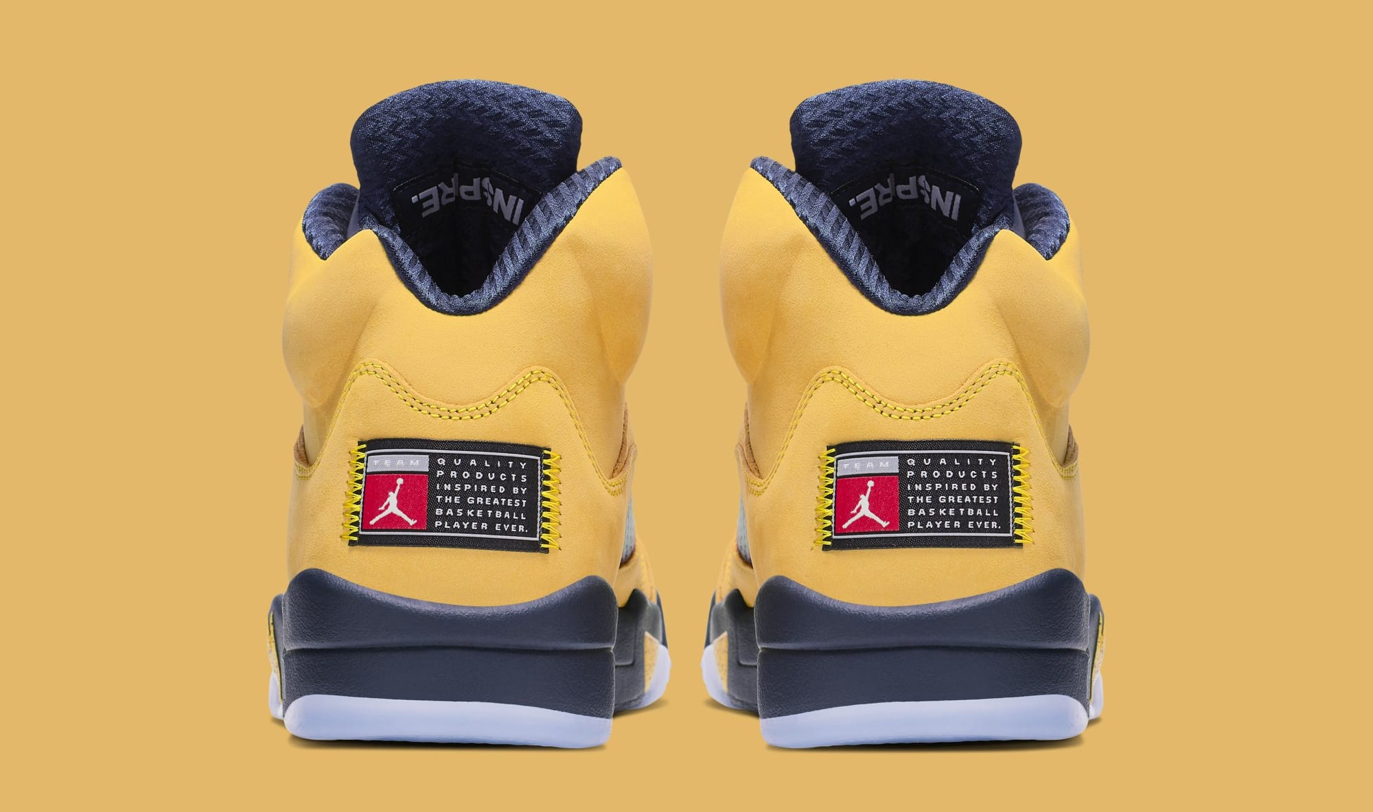 Air Jordan 5 'Michigan' CQ9541-704 (Heel)