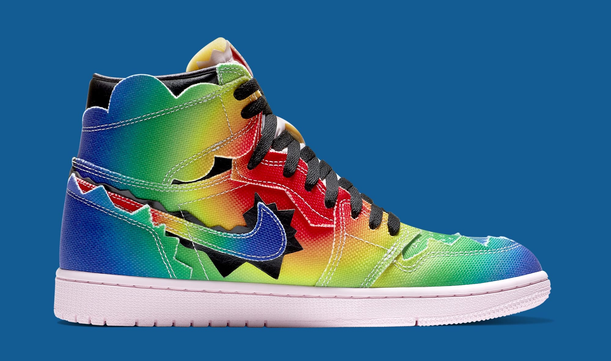 J Balvin x Air Jordan 1 High DC3481-900 Medial