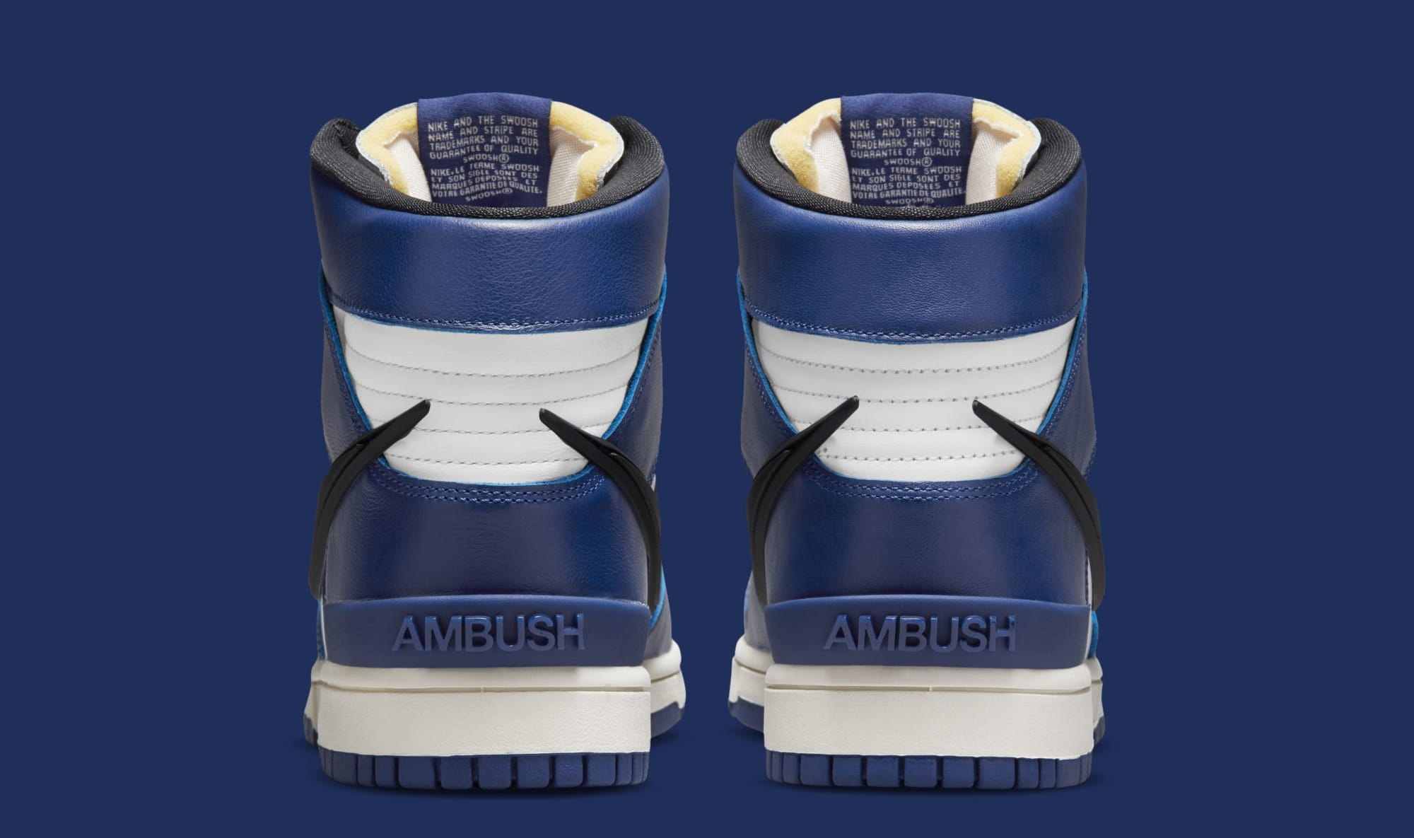 Ambush x Nike Dunk High 'Deep Royal Blue' CU7544-400 (Heel)