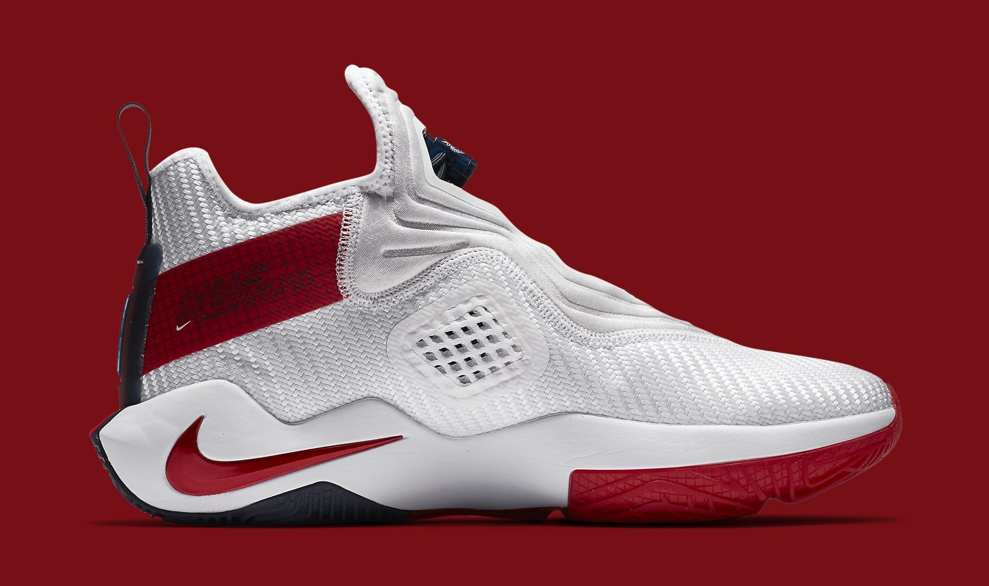 Nike LeBron Soldier 14 White/University Red-Team Red CK6024-100 Medial