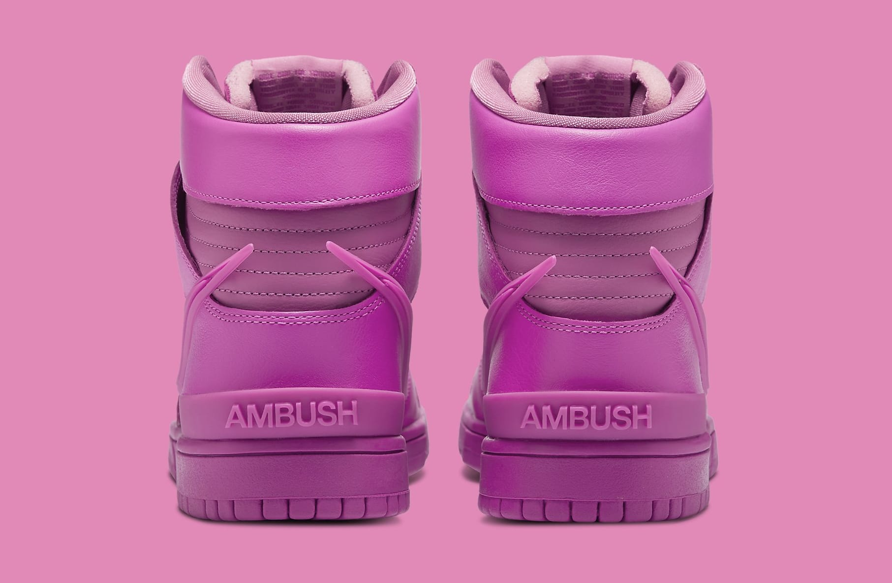 Ambush x Nike Dunk High 'Cosmic Fuchsia' CU7544-600 Heel