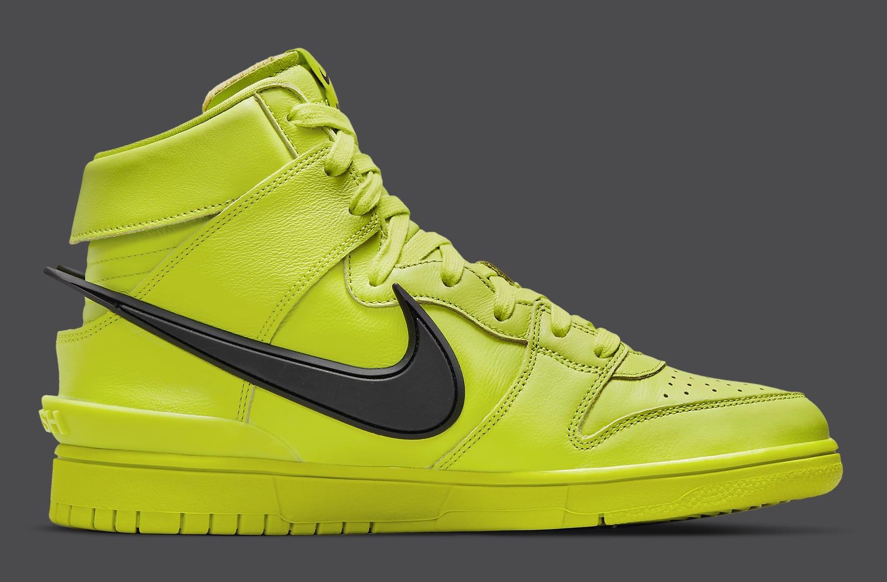 Ambush x Nike Dunk High Atomic Green Release Date CU7544-300 Medial