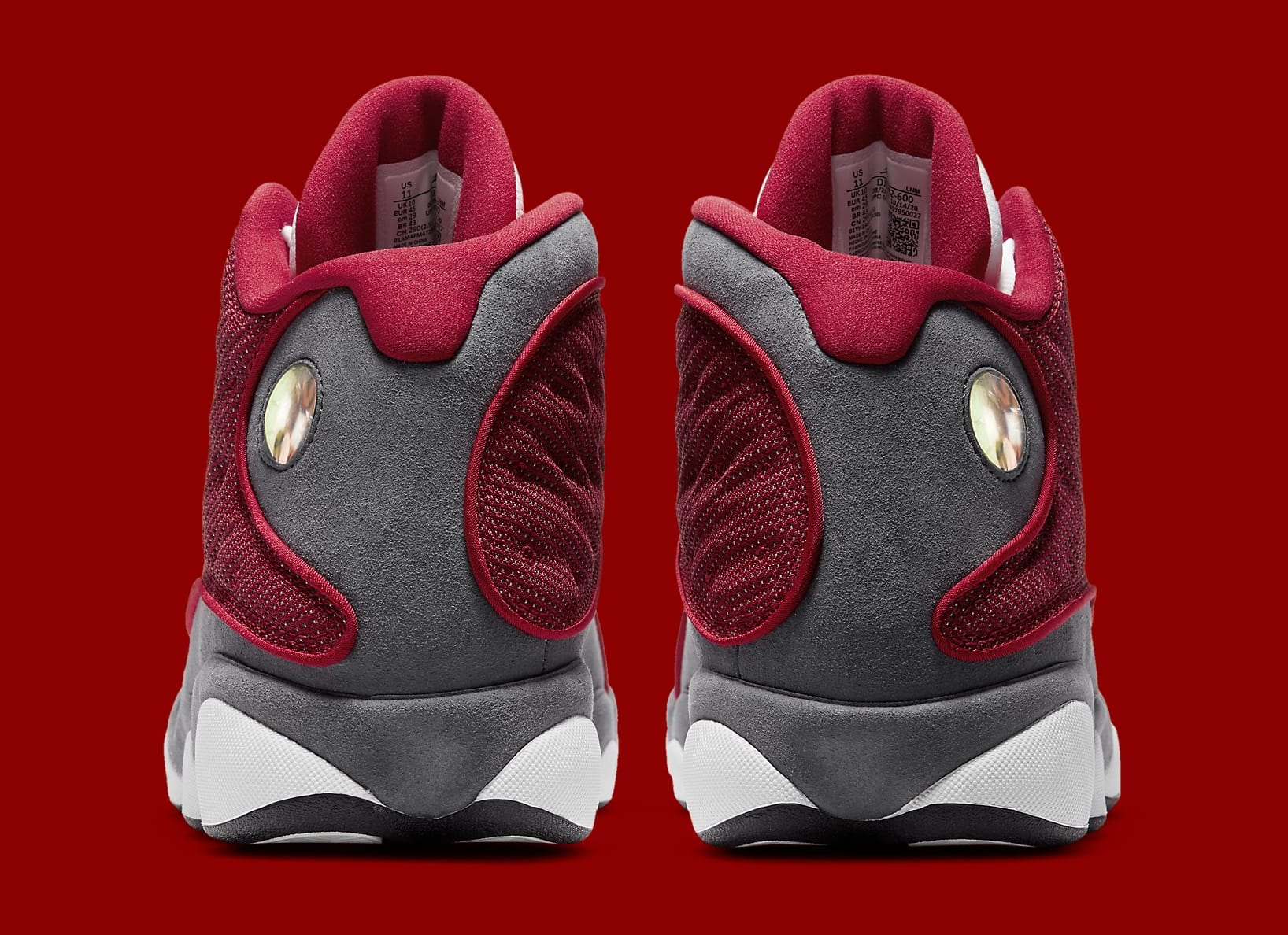 Air Jordan 13 Retro 'Gym Red' DJ5982-600 Heel