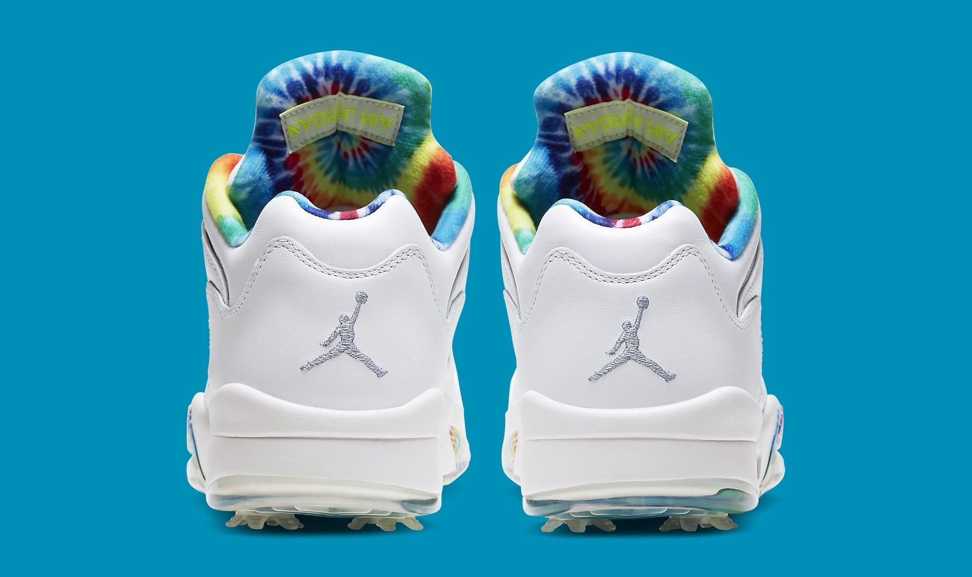 Air Jordan 5 Golf 'Tie-Dye' CW4205-100 Heel