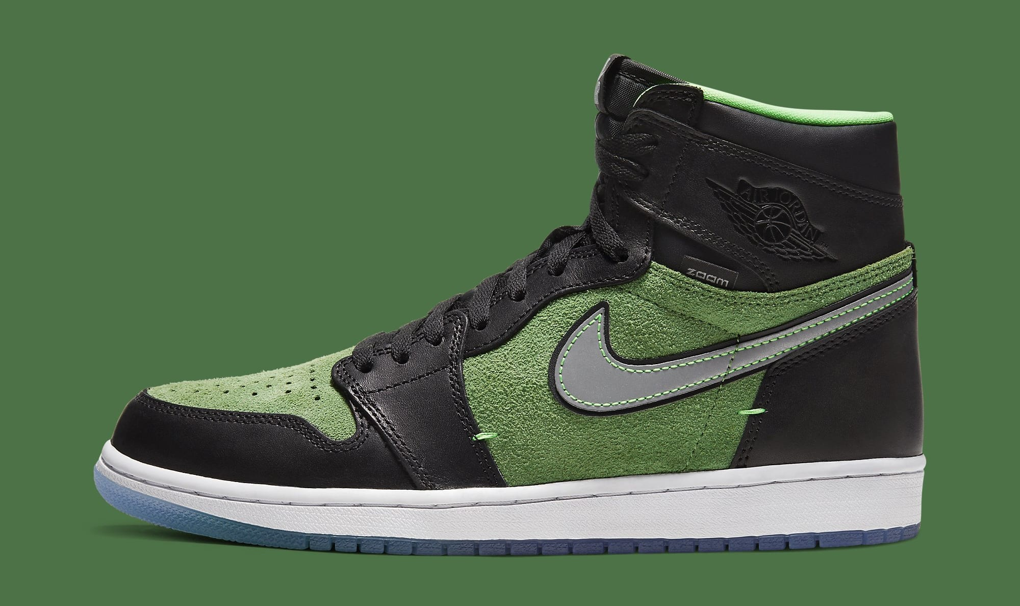 Air Jordan 1 High Zoom 'Rage Green' CK6637-002 Lateral
