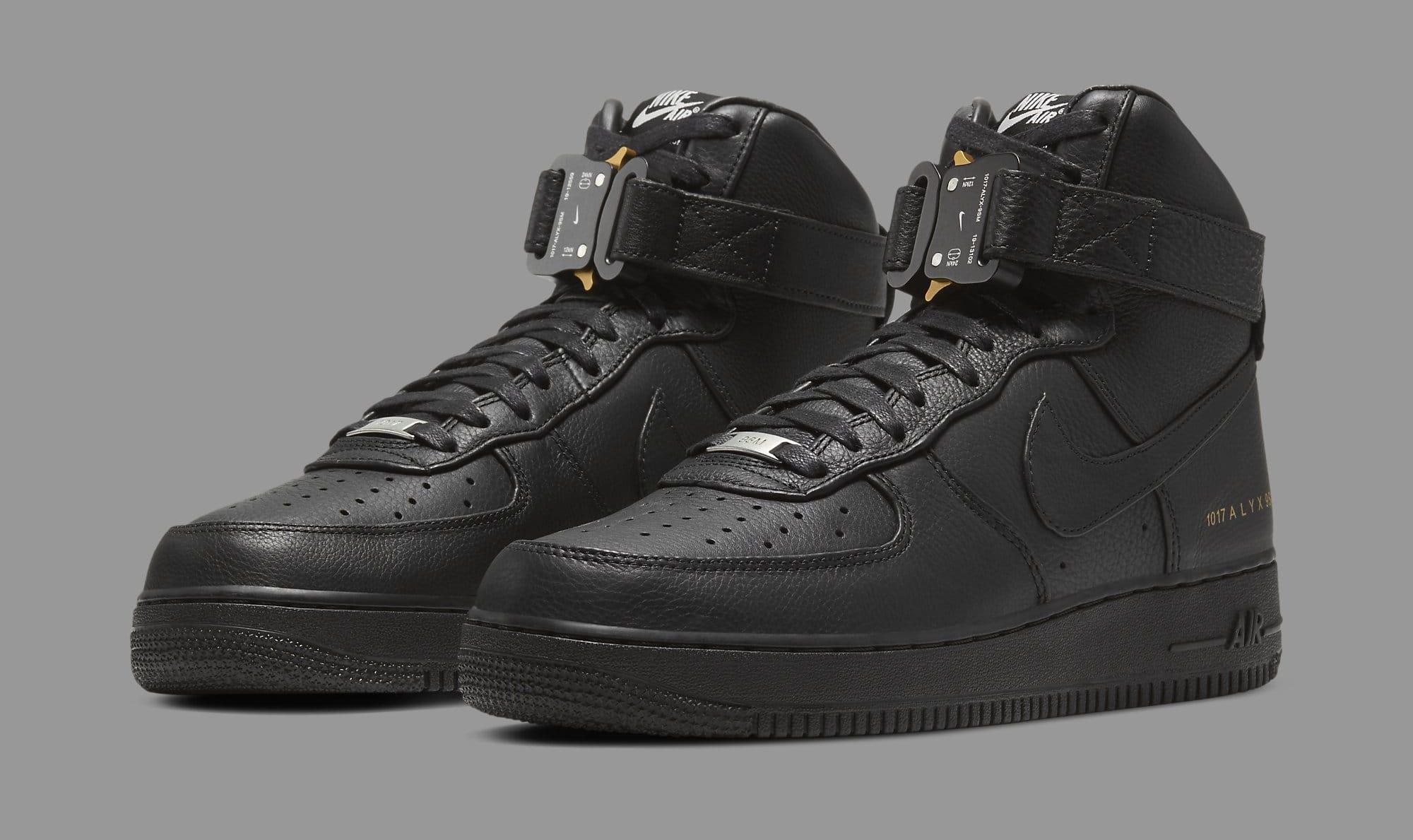 Alyx x Nike Air Force 1 High CQ4018-001 Pair