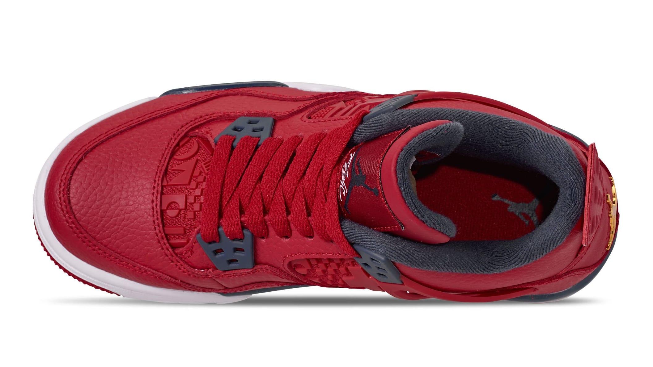 Air Jordan 4 Retro SE 'Fiba' Gym Red/White/Metallic Gold/Obsidian CI1184-617 (Top)