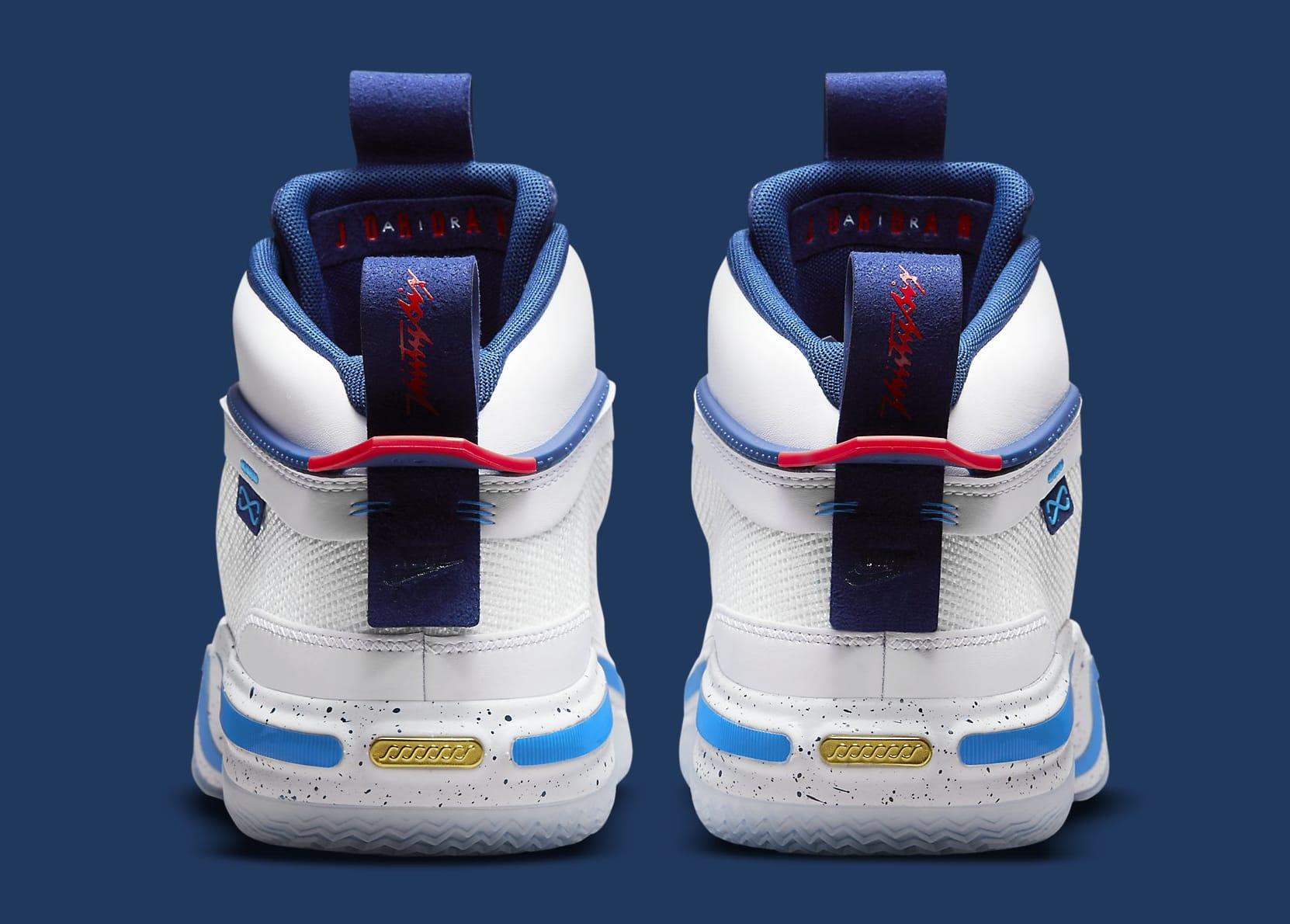 Air Jordan 36 Jayson Tatum PE DJ4484-100 Heel