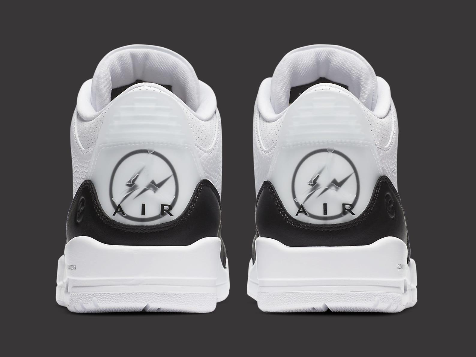 Fragment x Air Jordan 3 Release Date DA3595-100 Heel