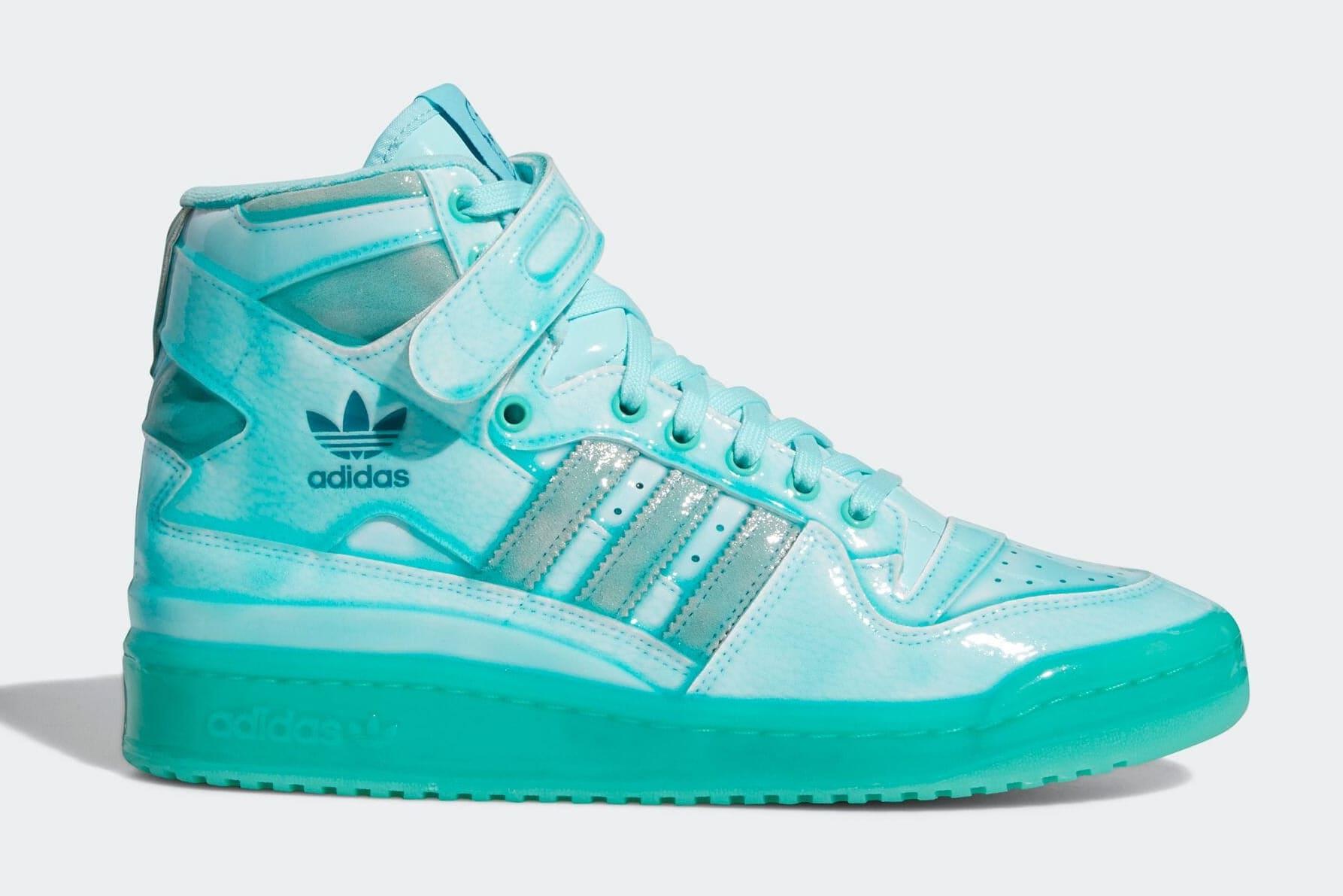 Jeremy Scott x Adidas Forum Hi Aqua