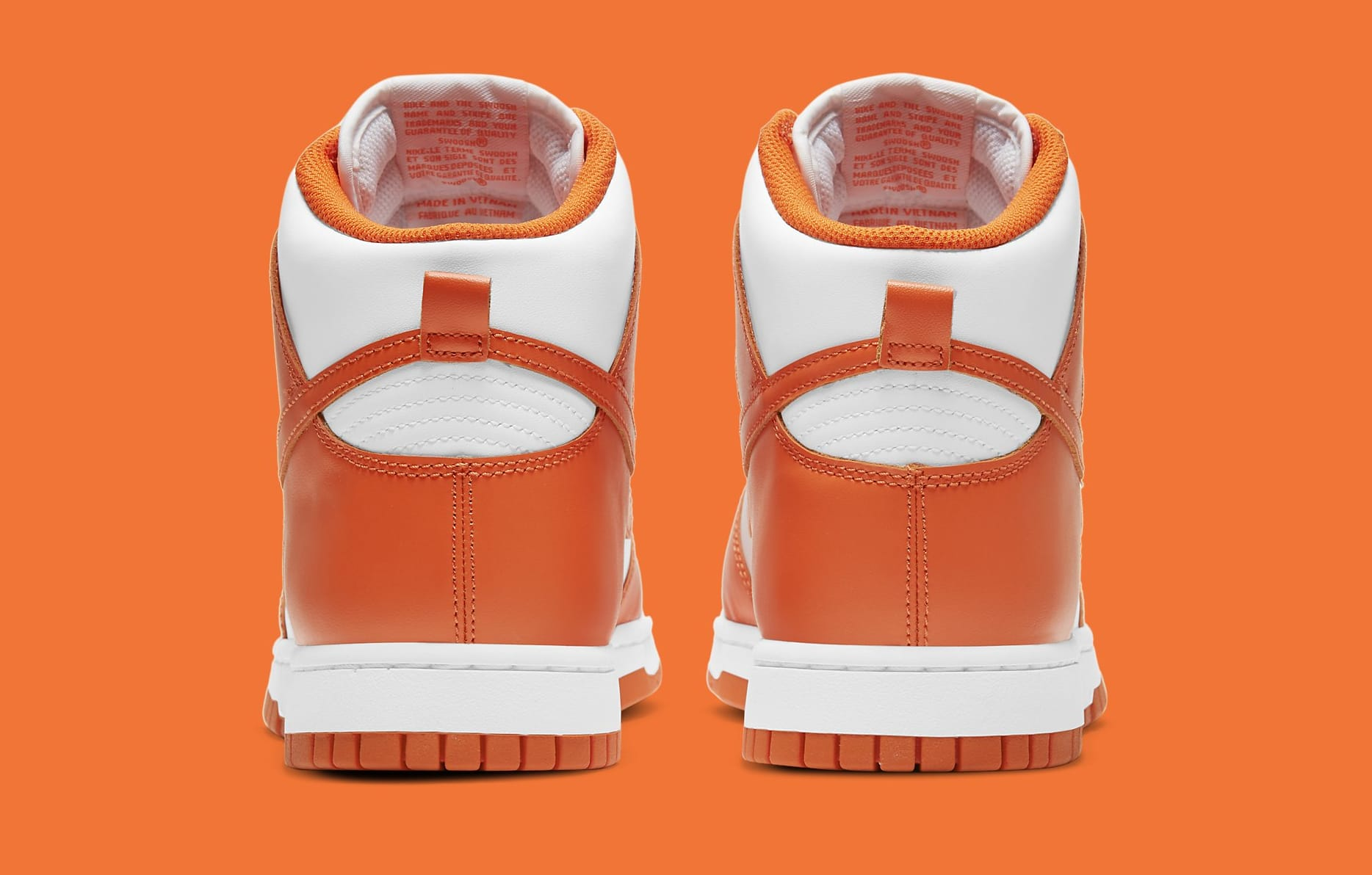 Nike Dunk High 'Syracuse' 2021 DD1399-101 Heel