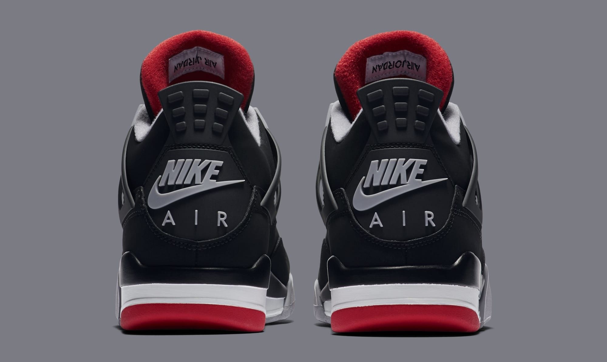 low priced 12c7d 9ba7c Image via Nike Air Jordan 4  Bred  308497-060 (Heel)