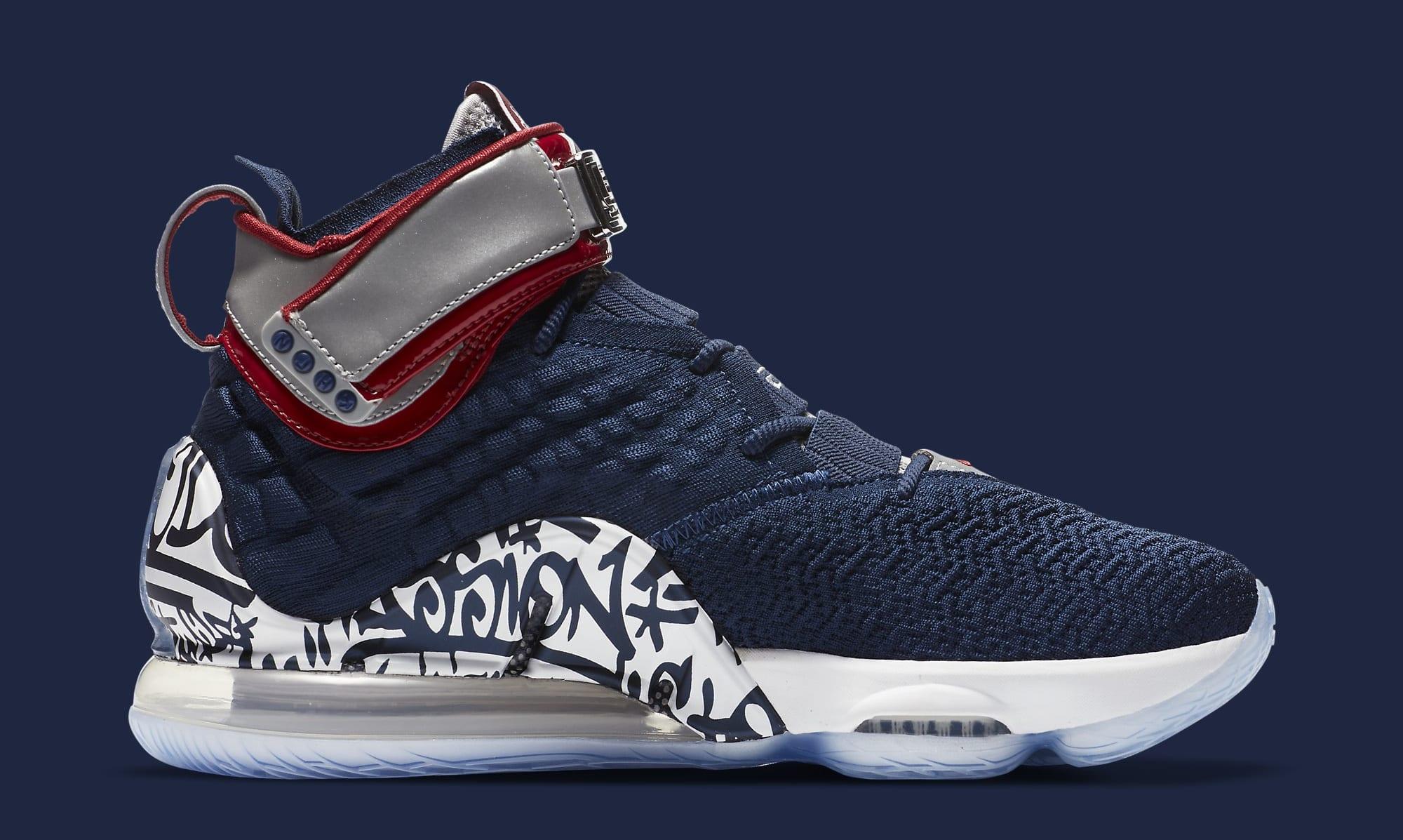 Nike LeBron 17 'All-Star Graffiti' CT6047-400 Medial
