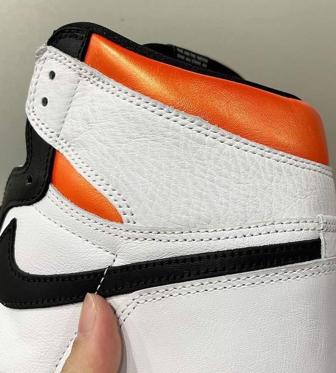 Air Jordan 1 Retro High OG 'Electro Orange' 555088-180 Heel