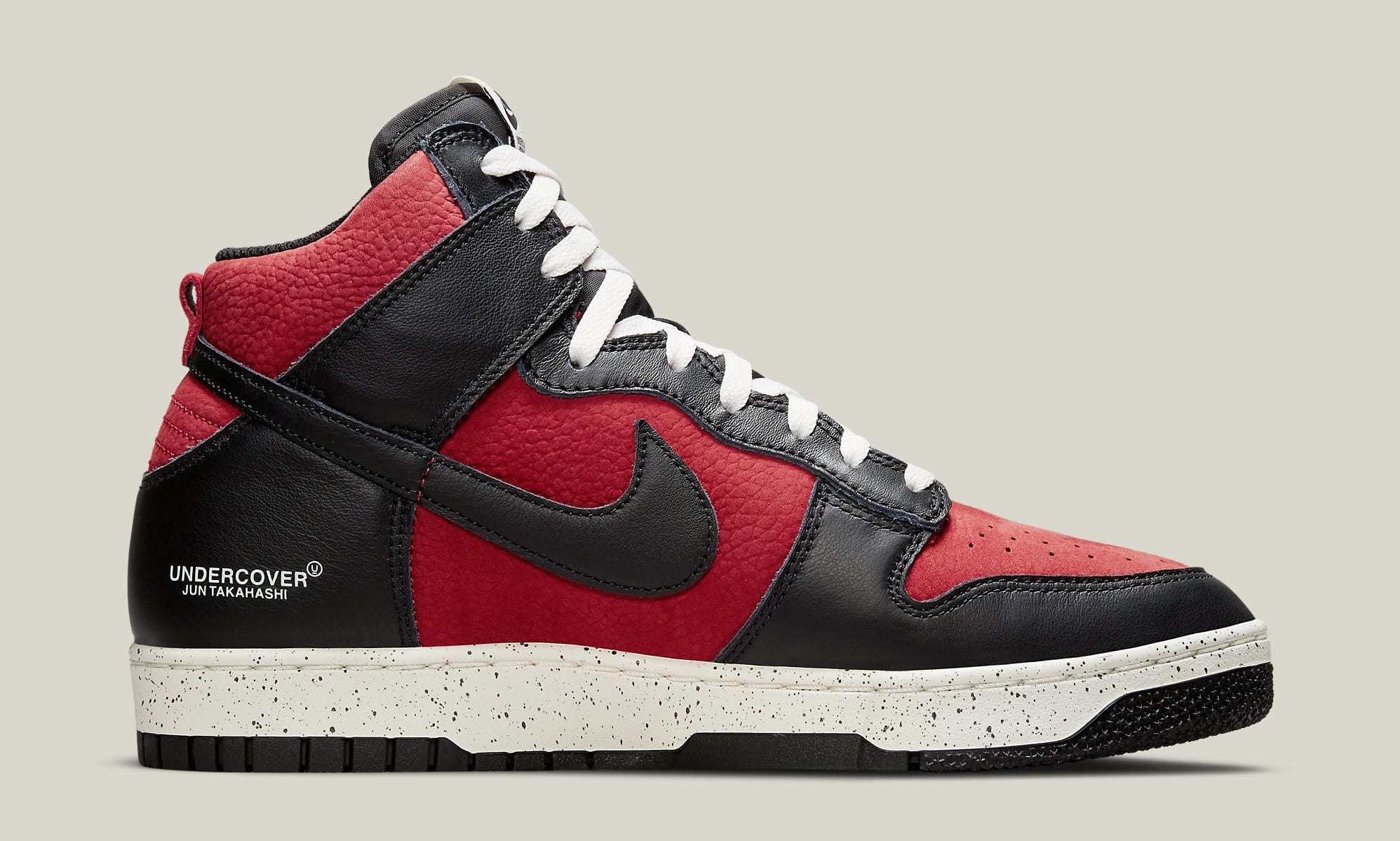 Undercover x Nike Dunk High 1985 'Gym Red' DD9401-600 Medial