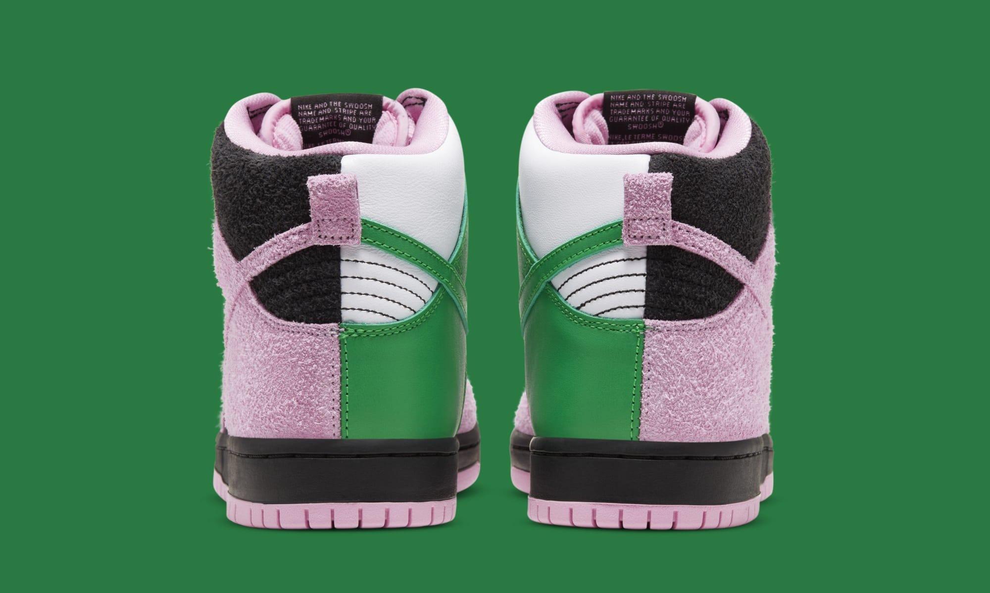 Nike SB Dunk High 'Invert Celtics' CU7349-001 Heel