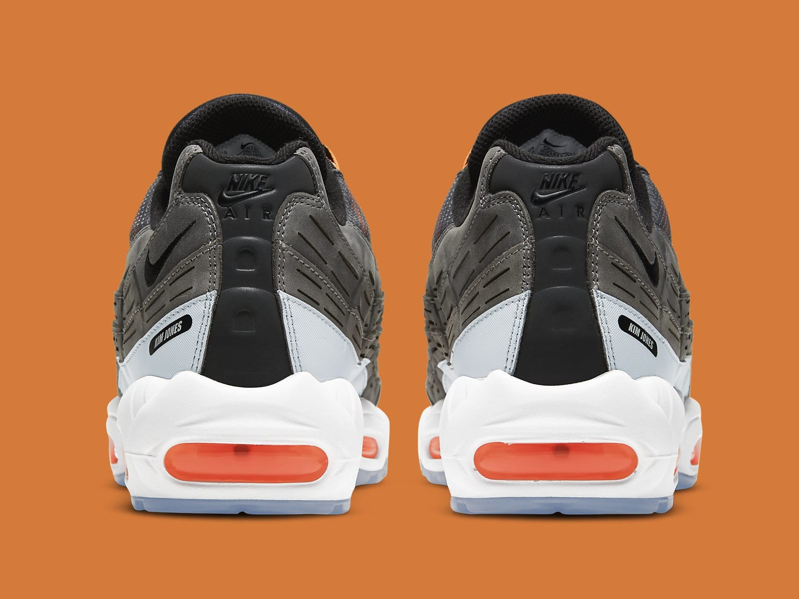 Kim Jones x Nike Air Max 95 Orange Release Date DD1871-001 Heel