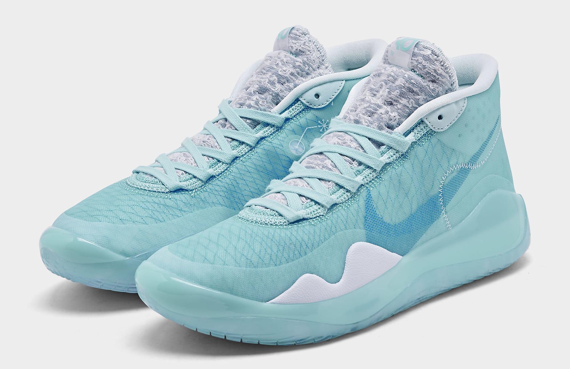 Nike KD 12 Blue Gaze Release Date AR4229-400 Pair