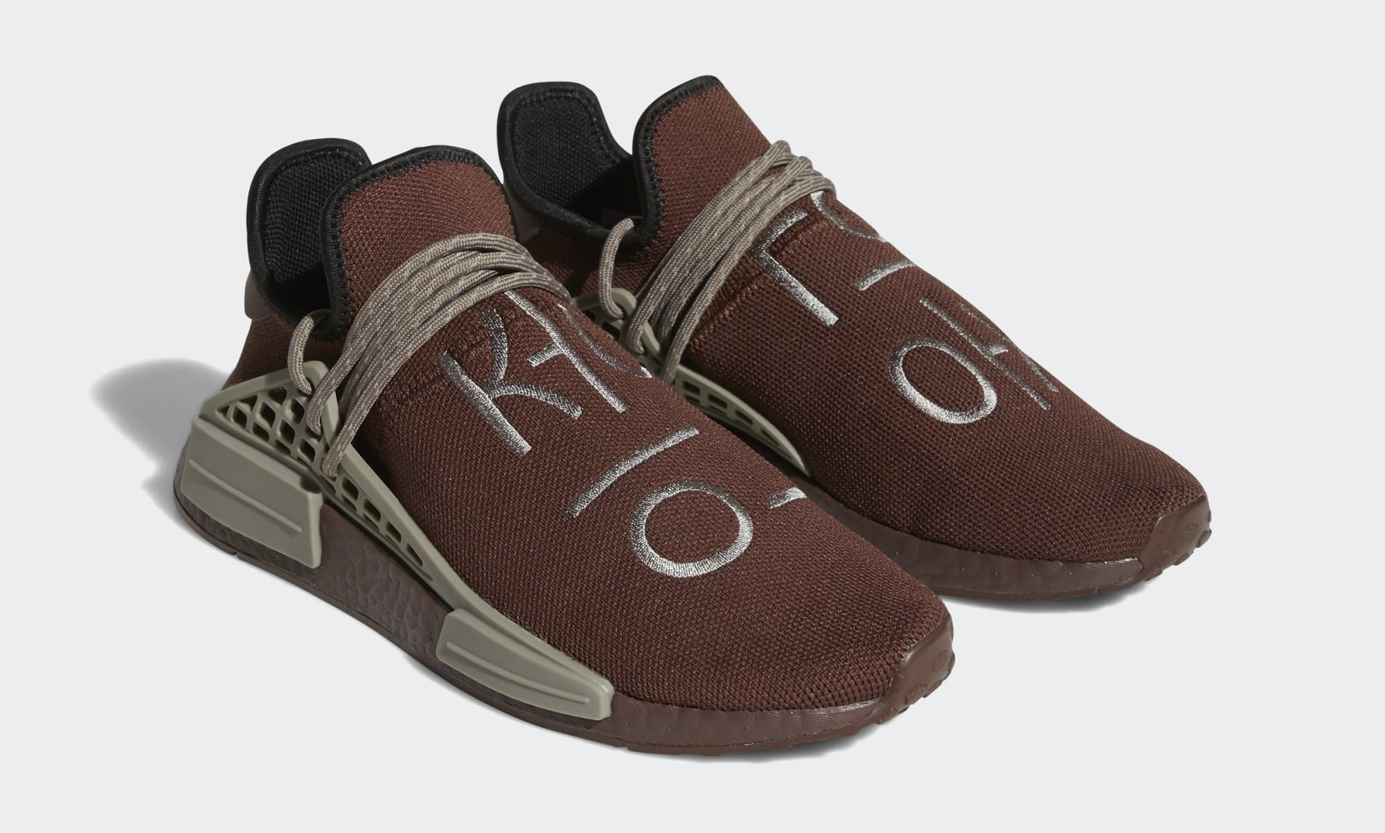 Pharrell Adidas NMD Hu Brown GY0090 Pair