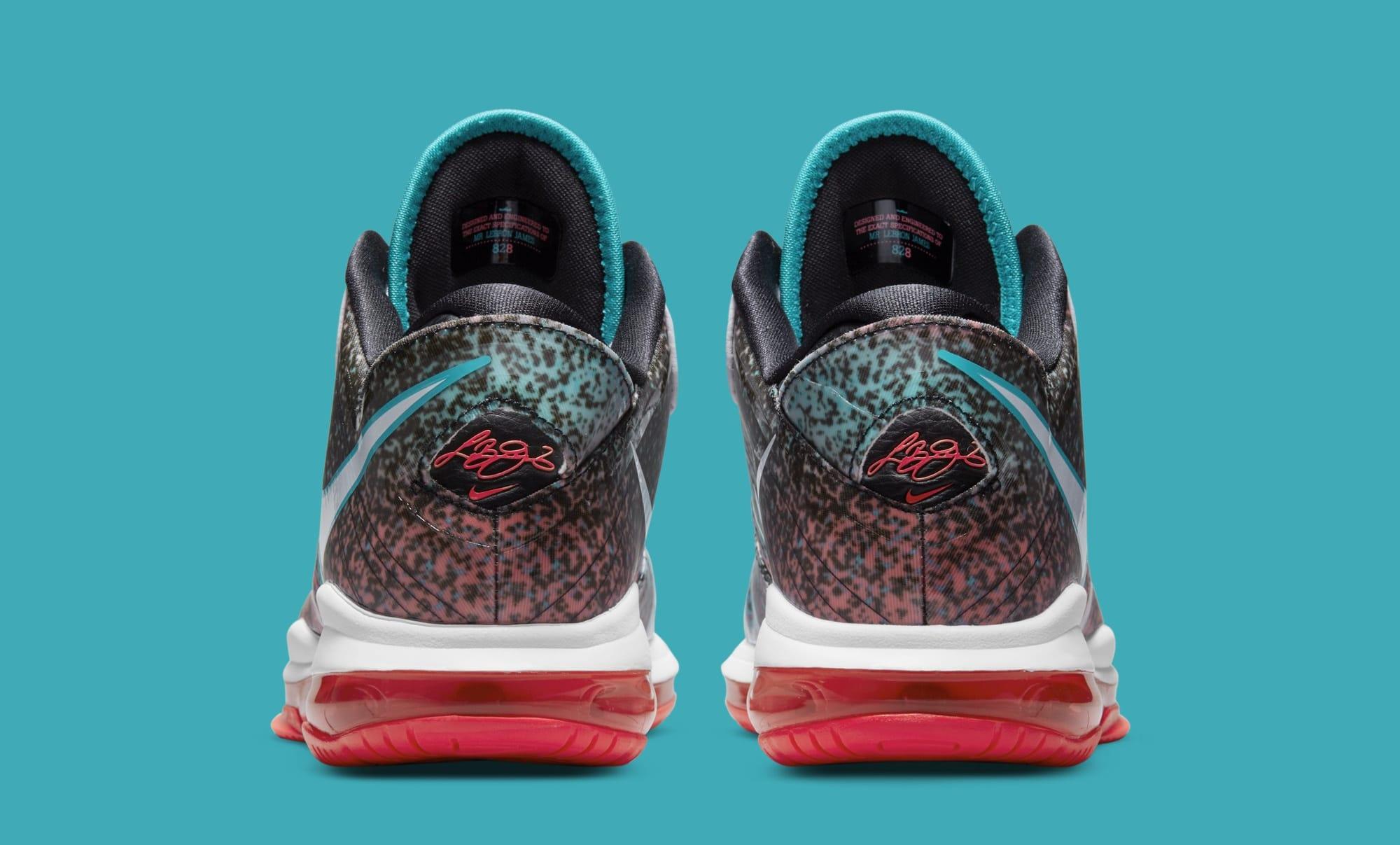 Nike LeBron 8 V2 Low 'Miami Nights' 2021 DJ4436-100 (Heel)