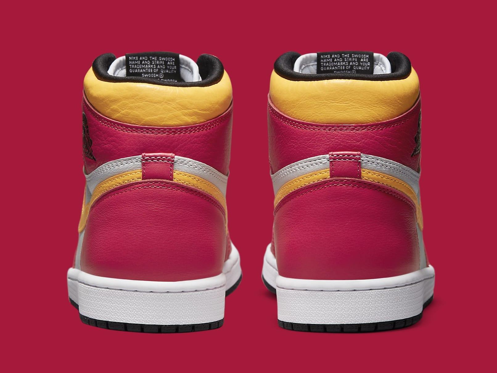 Air Jordan 1 Light Fusion Red Release Date 555088-603 Heel