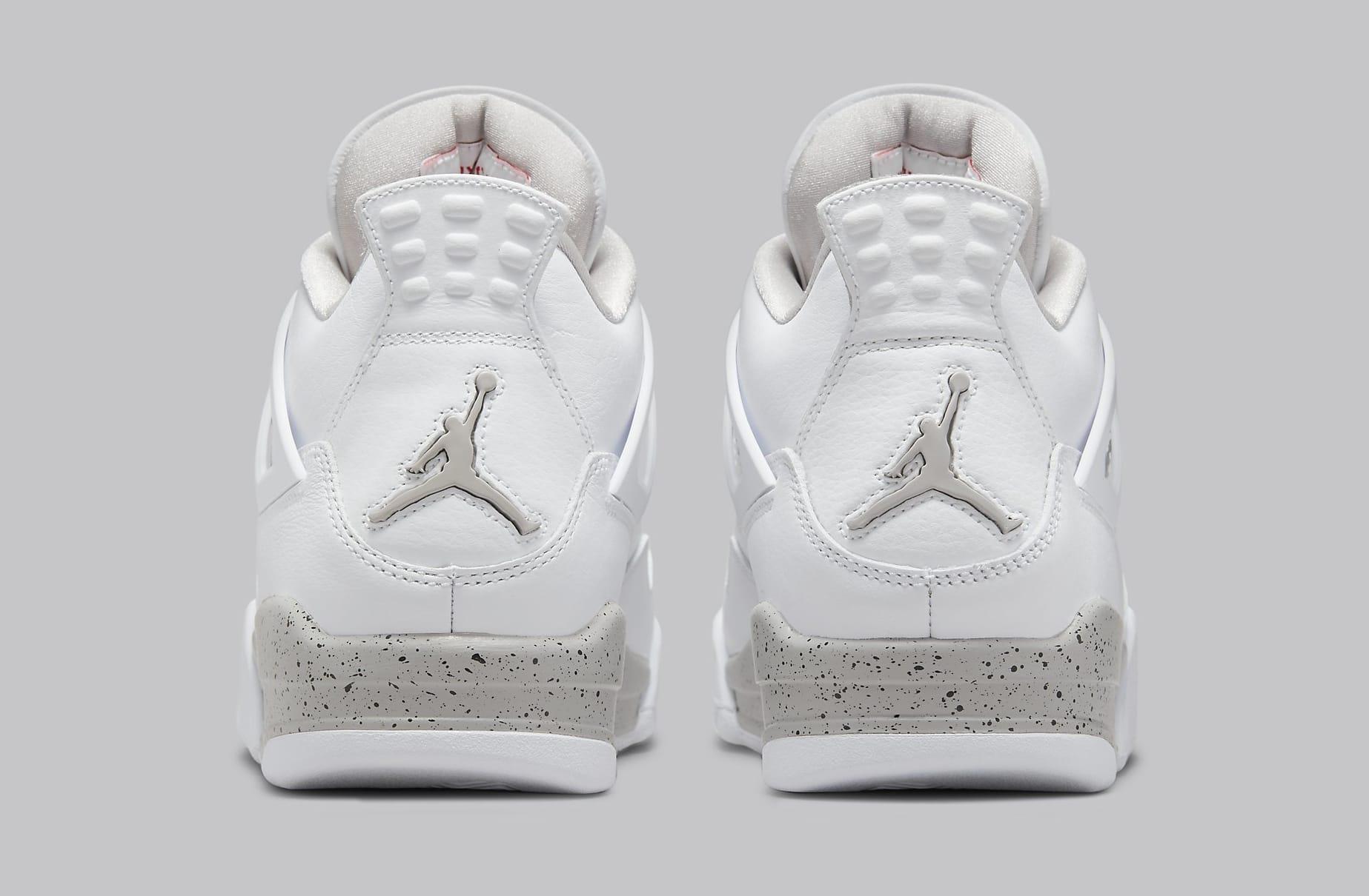 Air Jordan 4 Retro 'White Oreo' CT8527-100 Heel