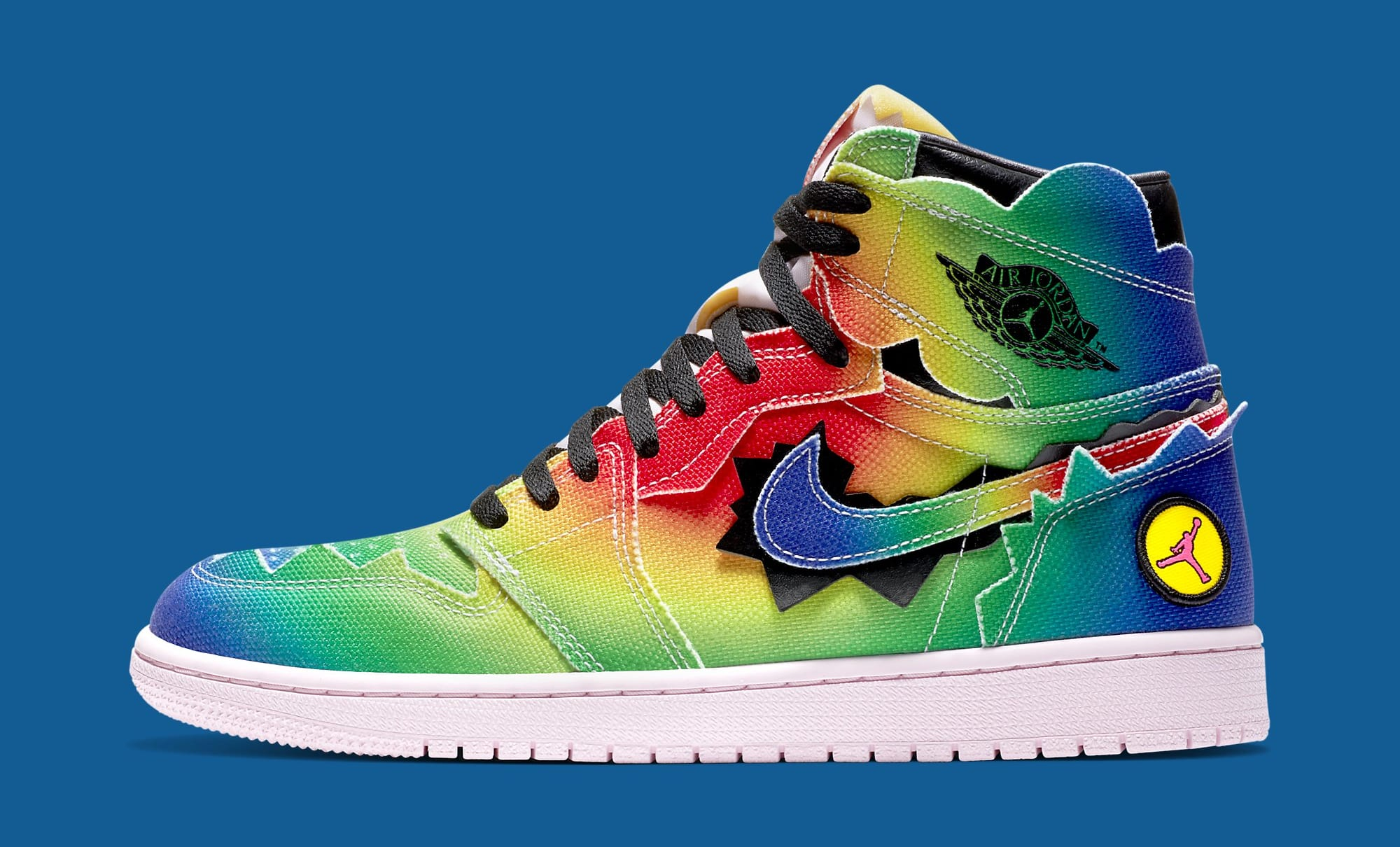 J Balvin x Air Jordan 1 High DC3481-900 Lateral