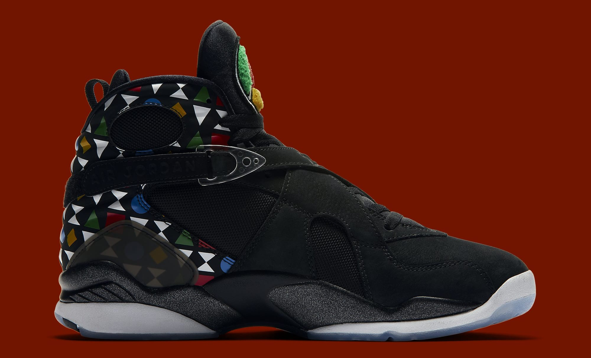 Air Jordan 8 Retro 'Quai 54' CJ9218-001 Medial