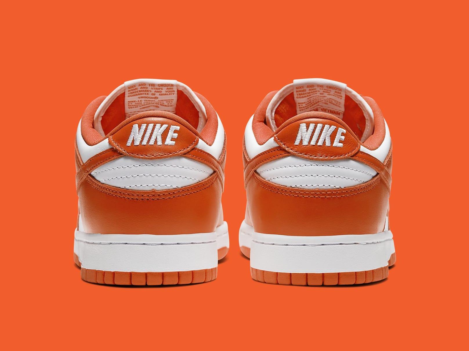 Nike Dunk Low Syracuse Release Date CU1726-101 Heel