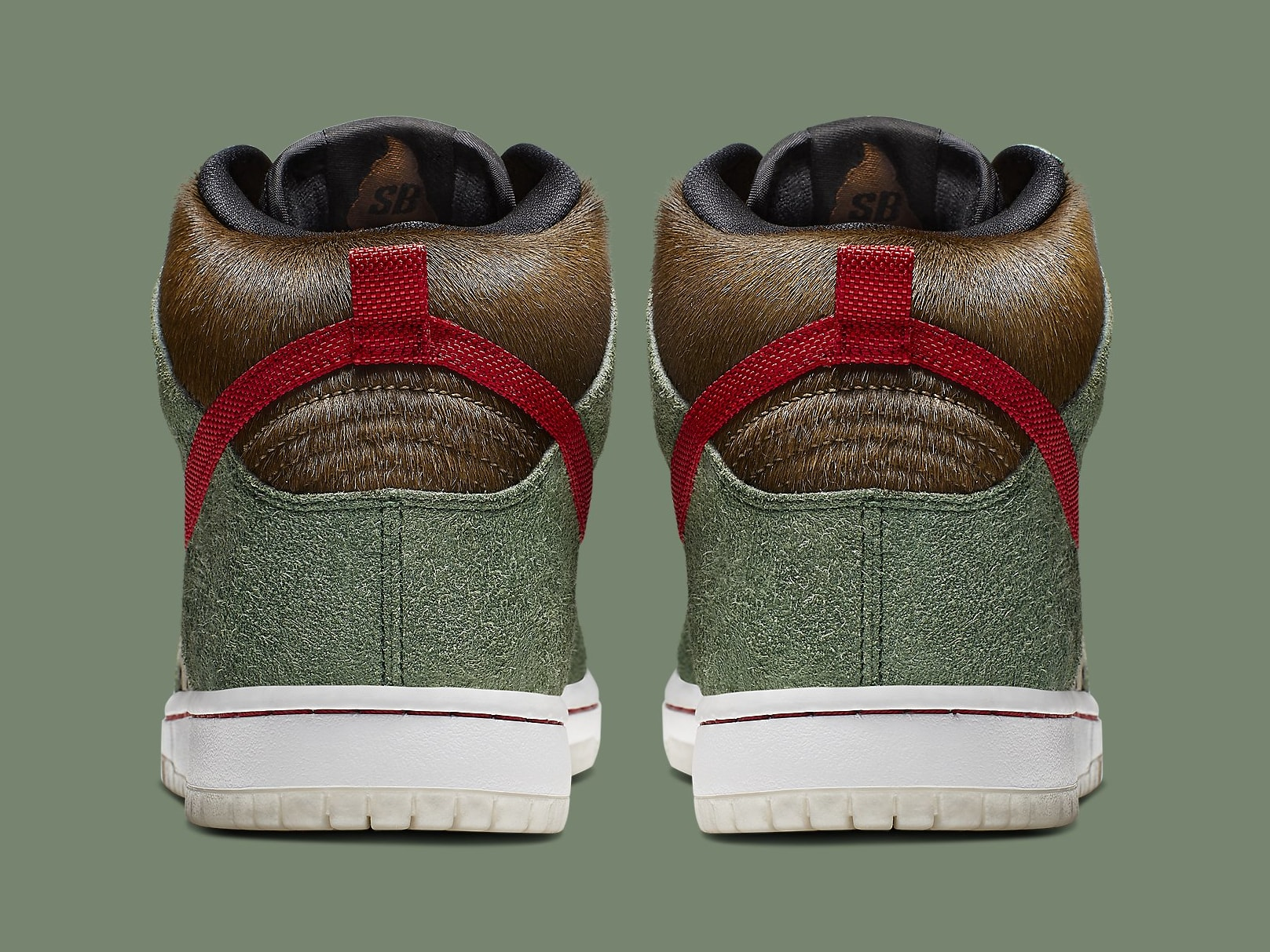 Nike SB Dunk High Dog Walker Release Date BQ6827-300 Heel