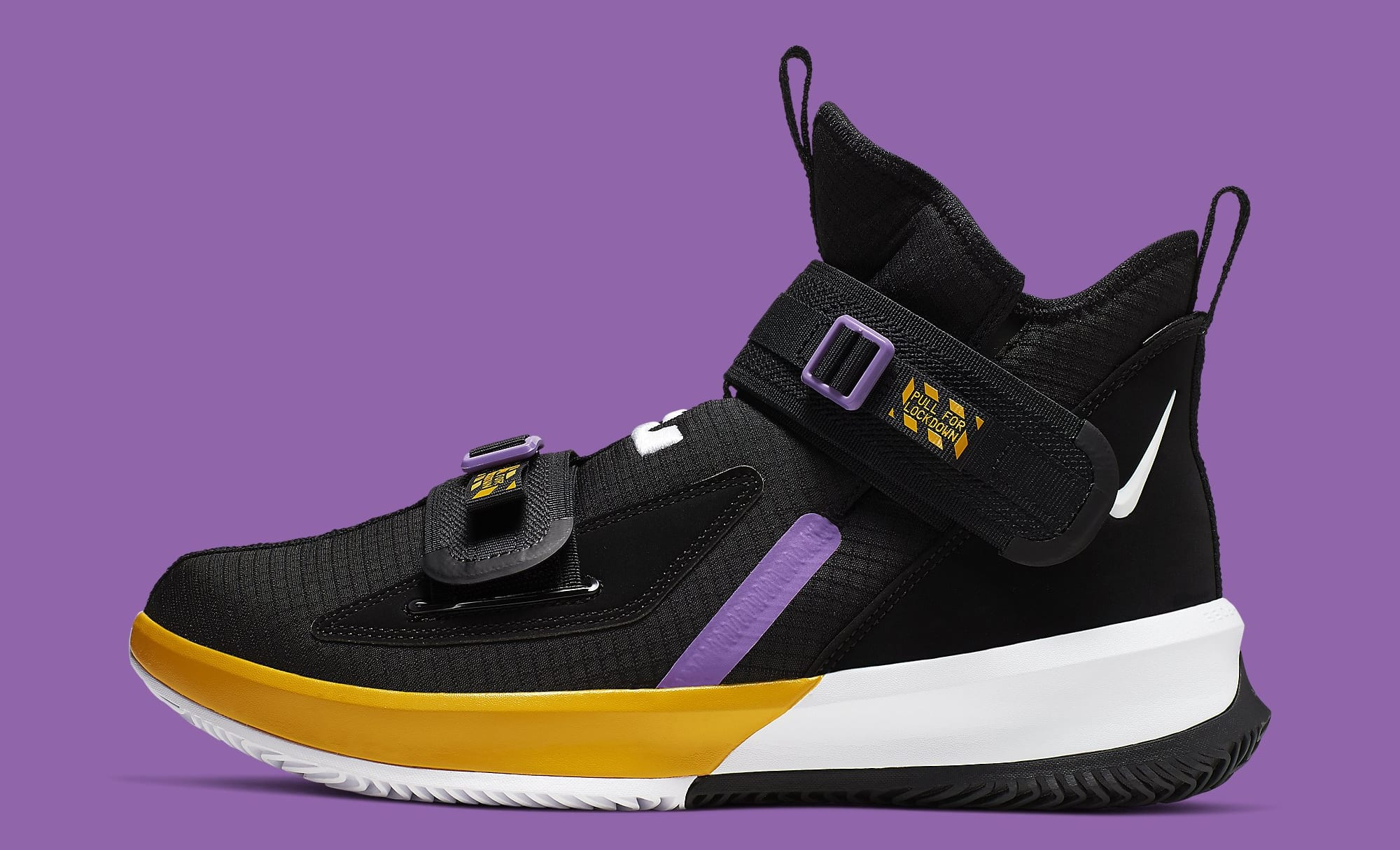 Nike LeBron Soldier 13 Lakers Release Date AR4228-004 Profile
