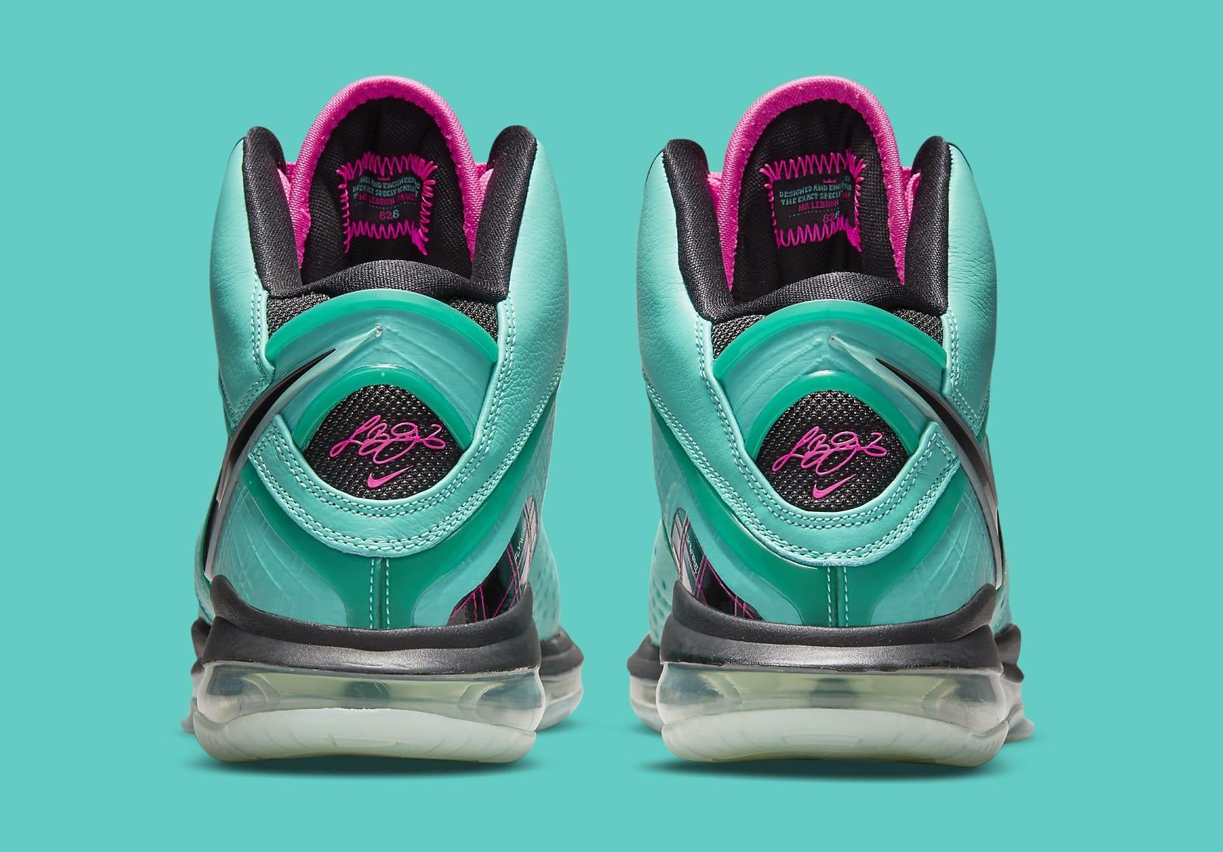 Nike LeBron 8 'South Beach' CZ0328-400 Heel