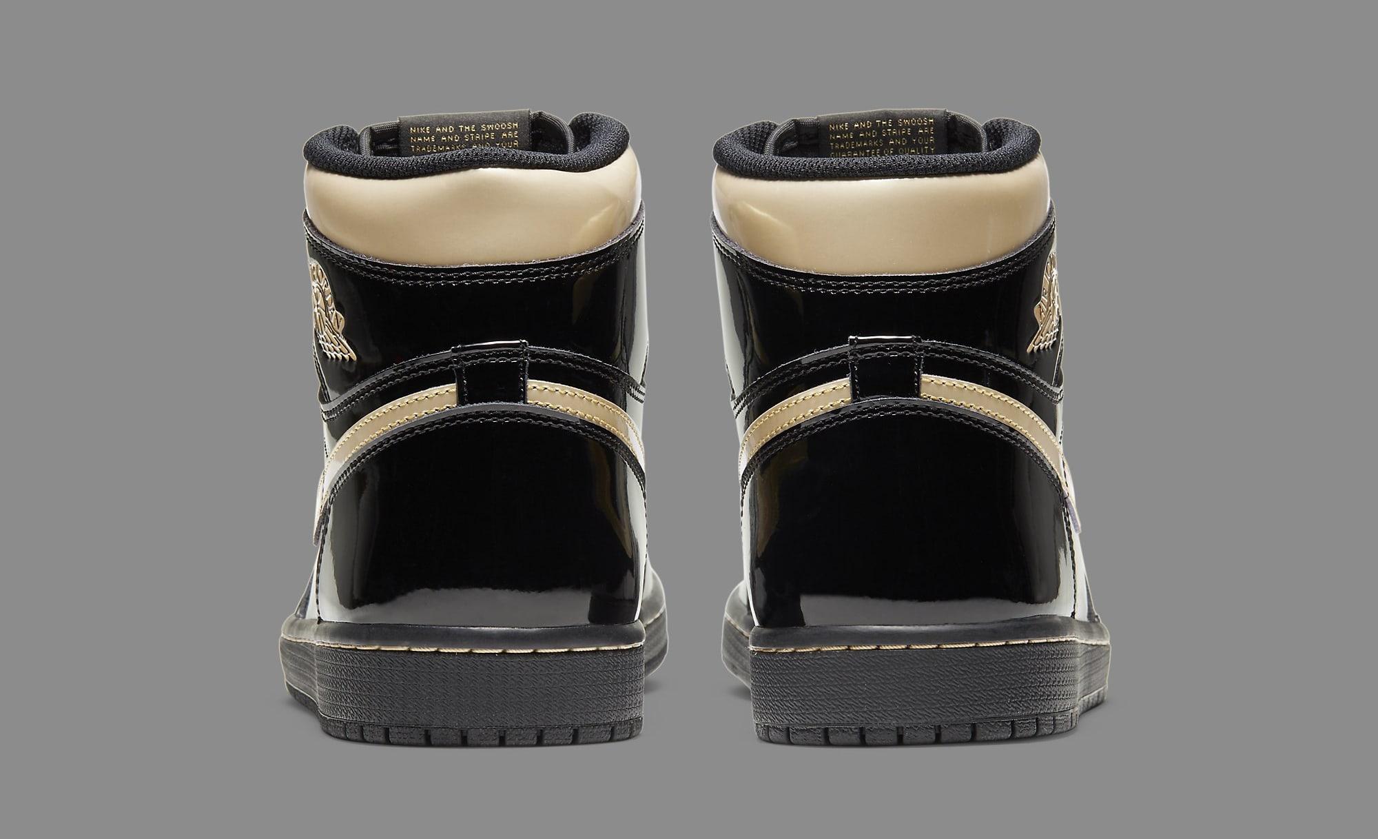 Air Jordan 1 Retro High OG 'Metallic Gold' 555088-032 Heel
