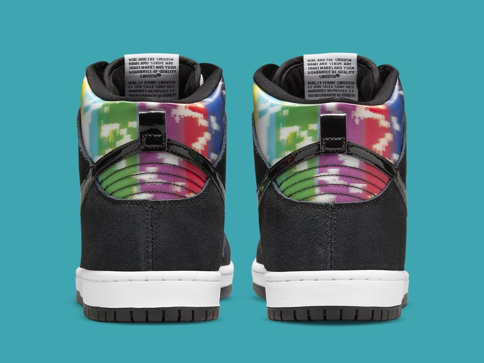 Nike SB Dunk High TV Signal Release Date CZ2253-100 Heel
