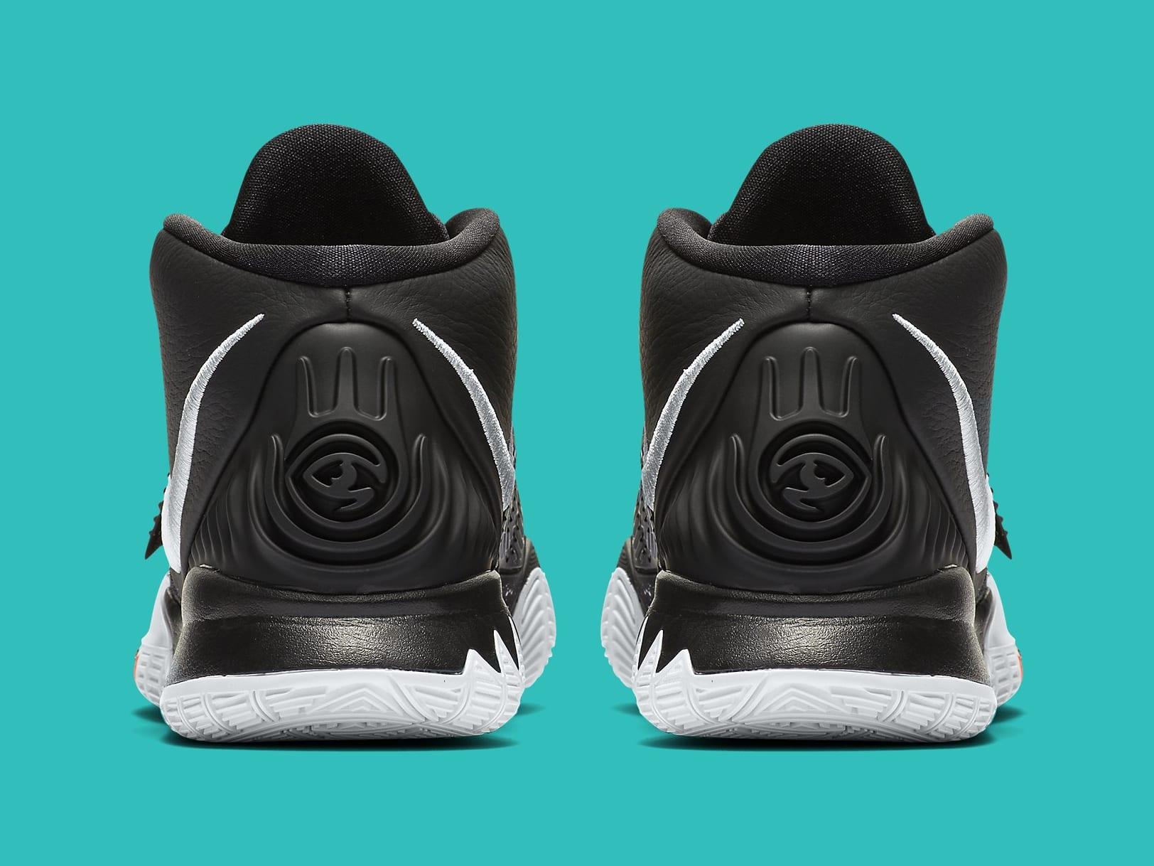 Nike Kyrie 6 Black White Release Date BQ4630-001 Heel