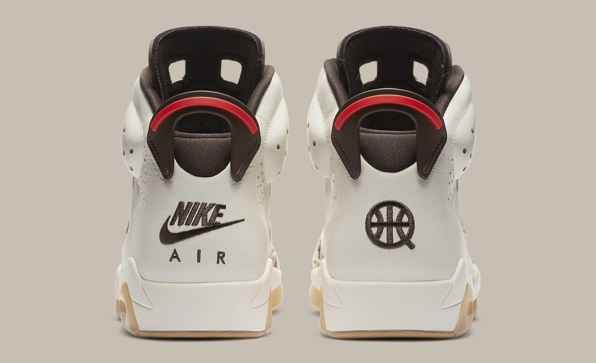 Air Jordan 6 Retro 'Quai 54' CZ4152-100 Heel